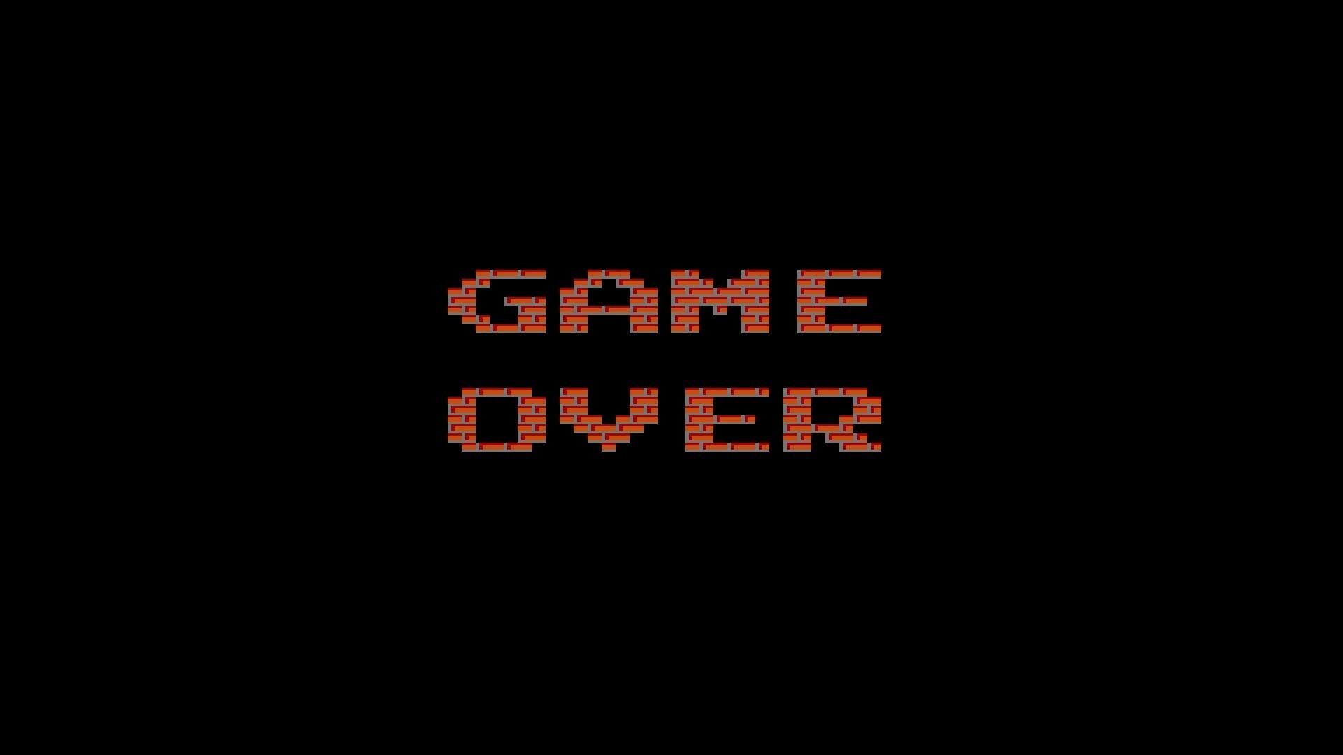 digital Art, GAME OVER, Minimalism, Text, Video Games, Retro Games,