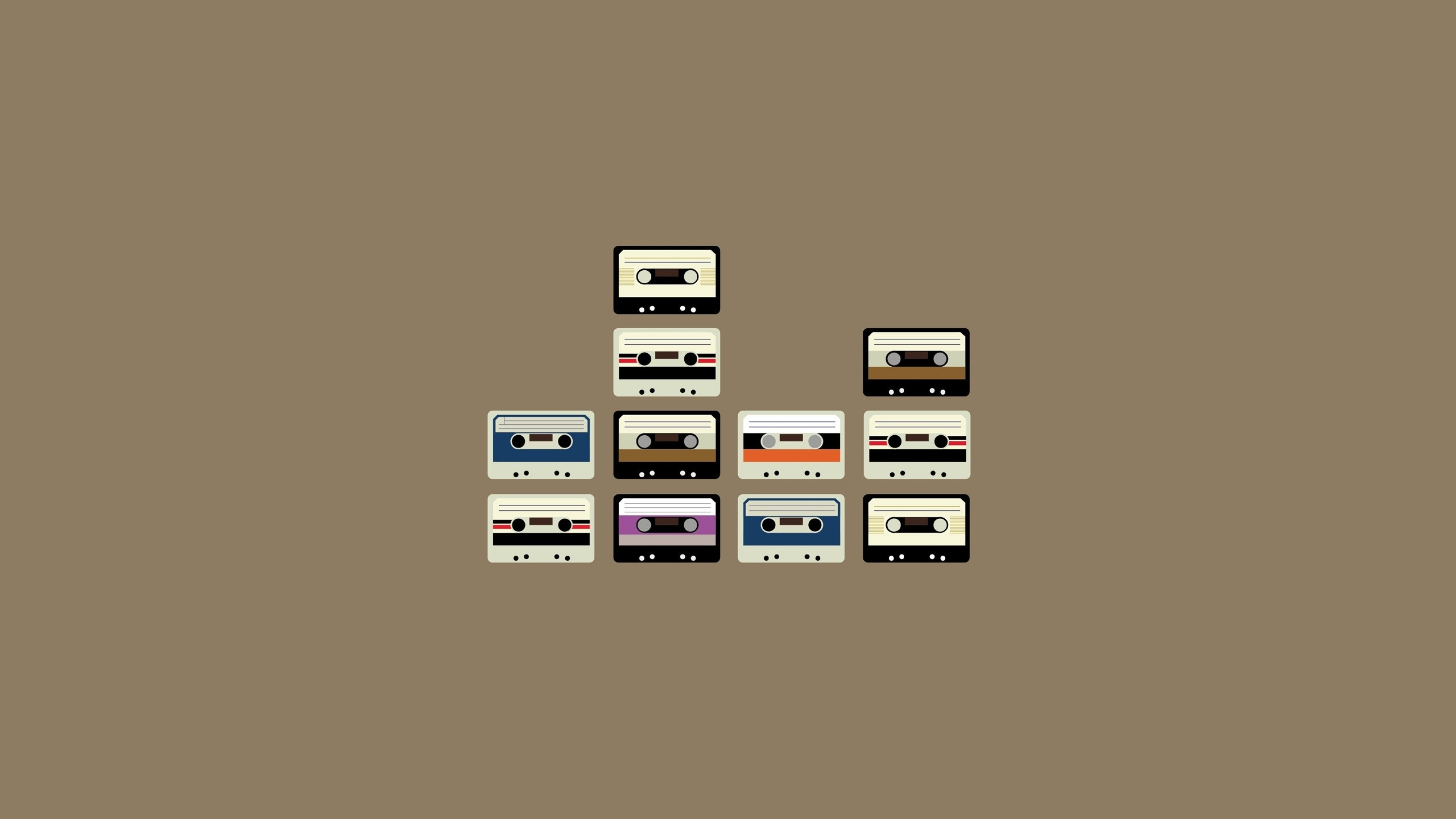 Wallpaper cassette, set, retro