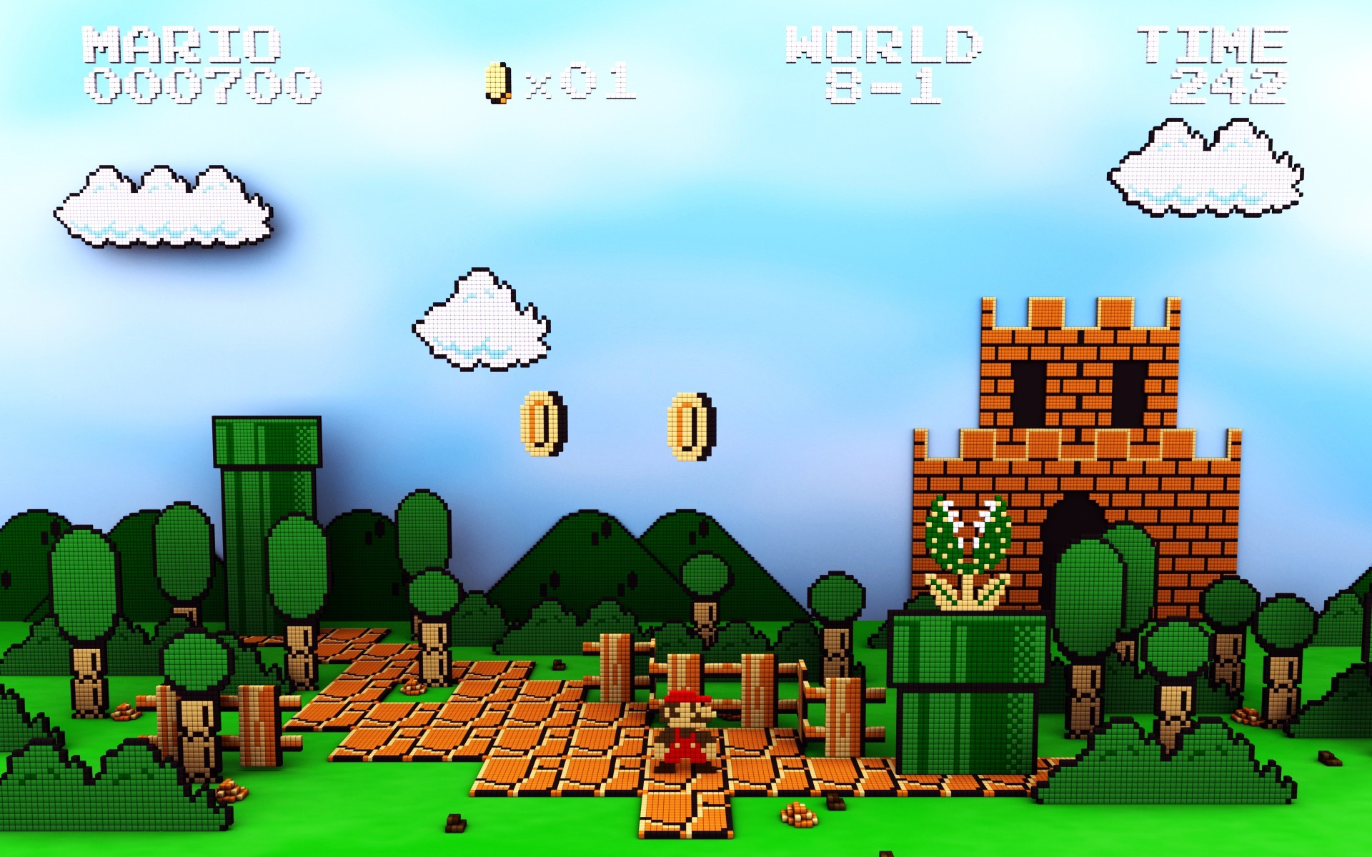 Mario Bros., Retro Games, Nintendo Entertainment System, Pixel Art, 8 bit,  Video Games Wallpapers HD / Desktop and Mobile Backgrounds