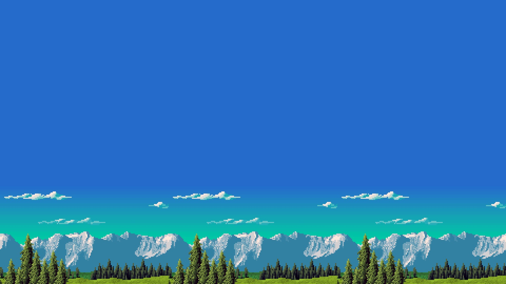 retro Games, Mountain, 8 bit. minimalism, Retro Games Wallpaper HD