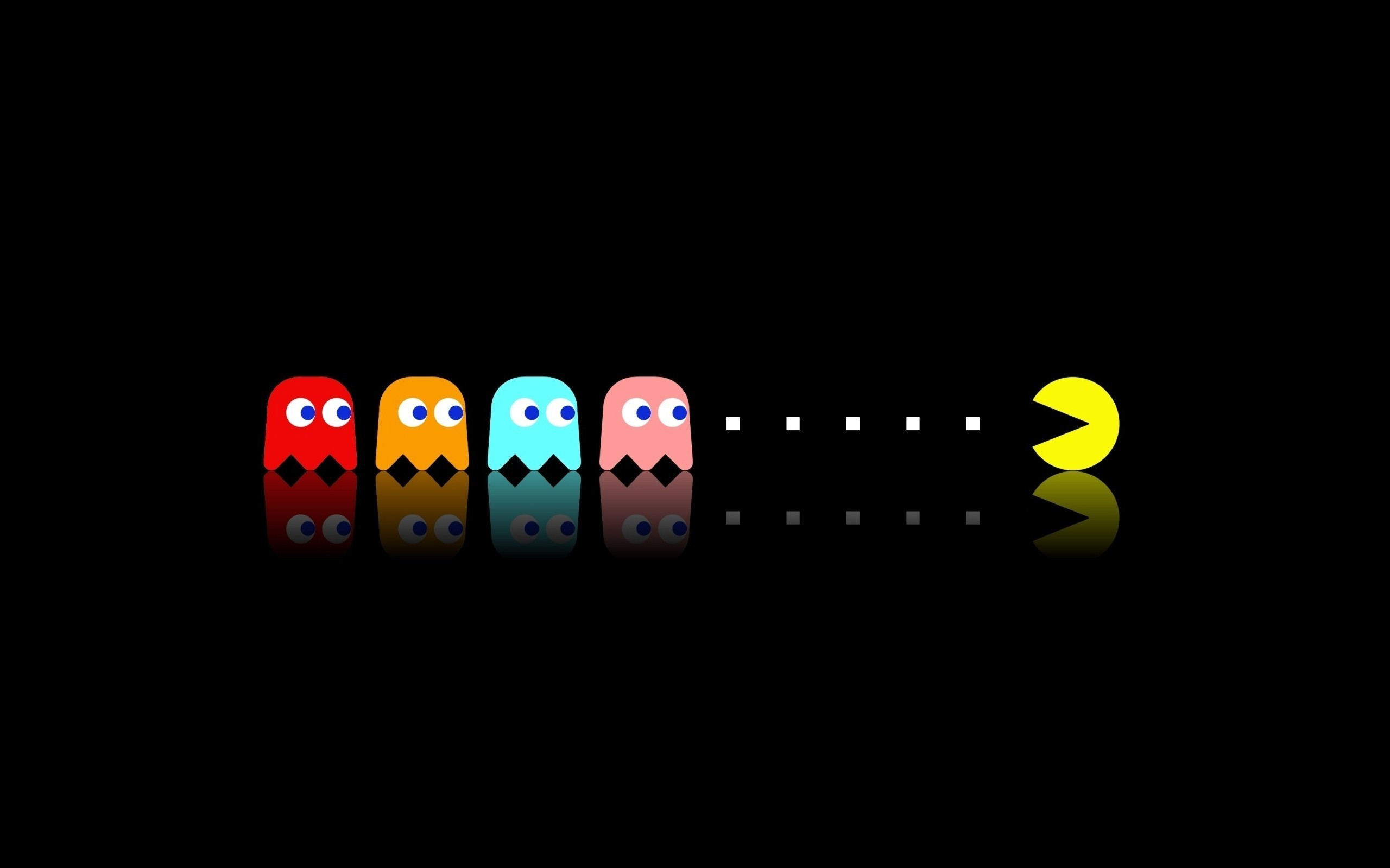 Pac Man, Retro Games, Video Games, Minimalism Wallpapers HD / Desktop and  Mobile Backgrounds