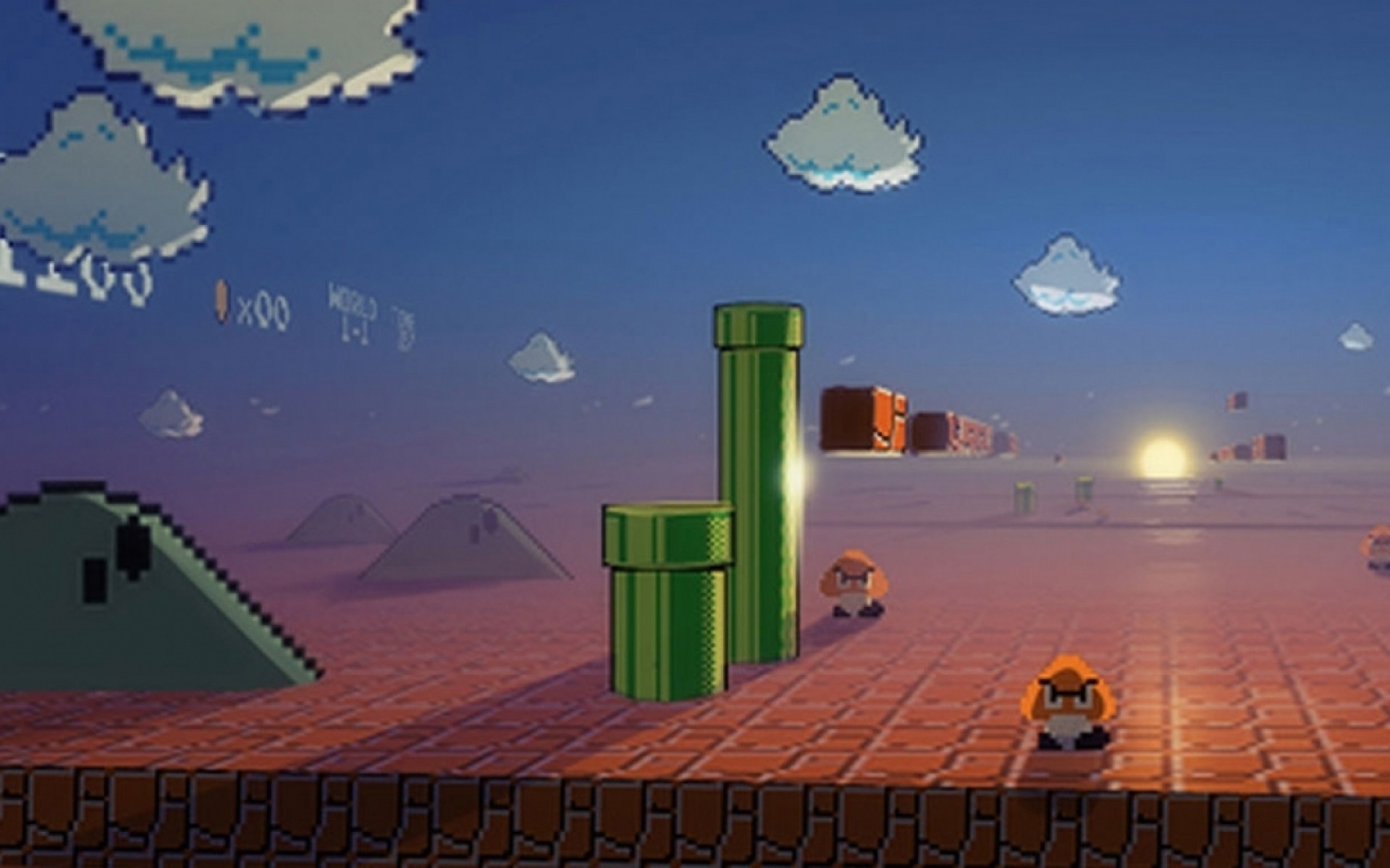 nintendo video games mario super mario bros pixels retro games Wallpaper HD