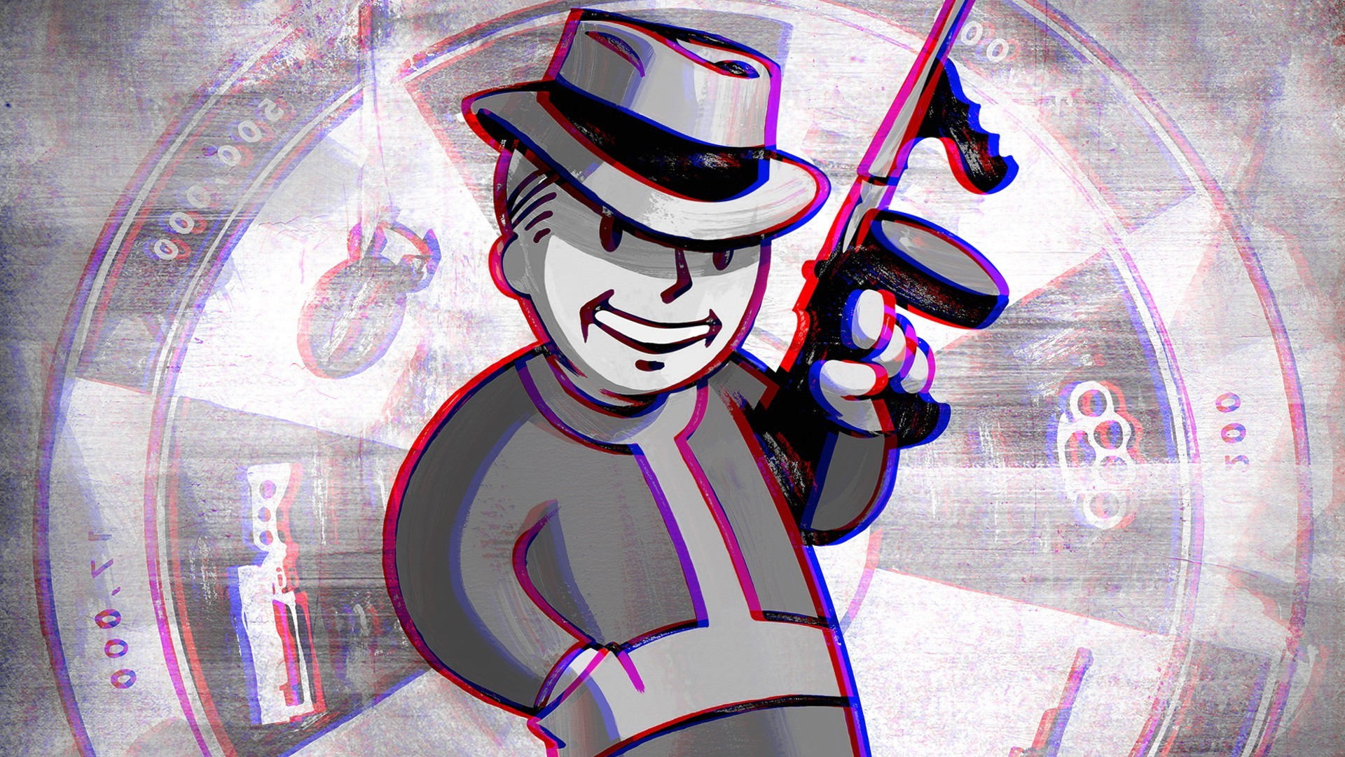 Fallout 3, Anaglyph 3D, Vault Boy Wallpapers HD / Desktop and Mobile  Backgrounds