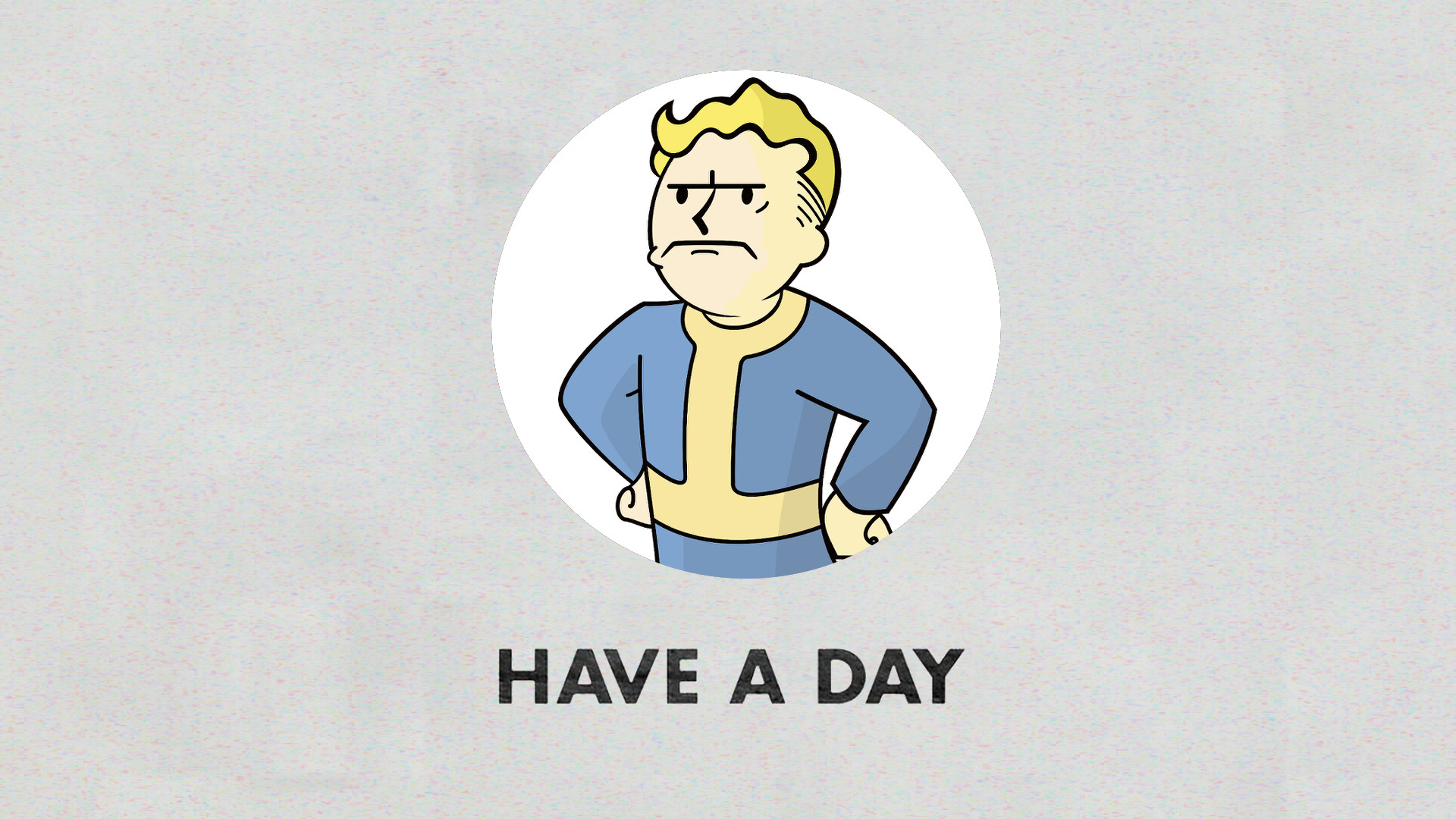 … Have A Day – Vault Boy From Fallout Remake by VaughnWhiskey