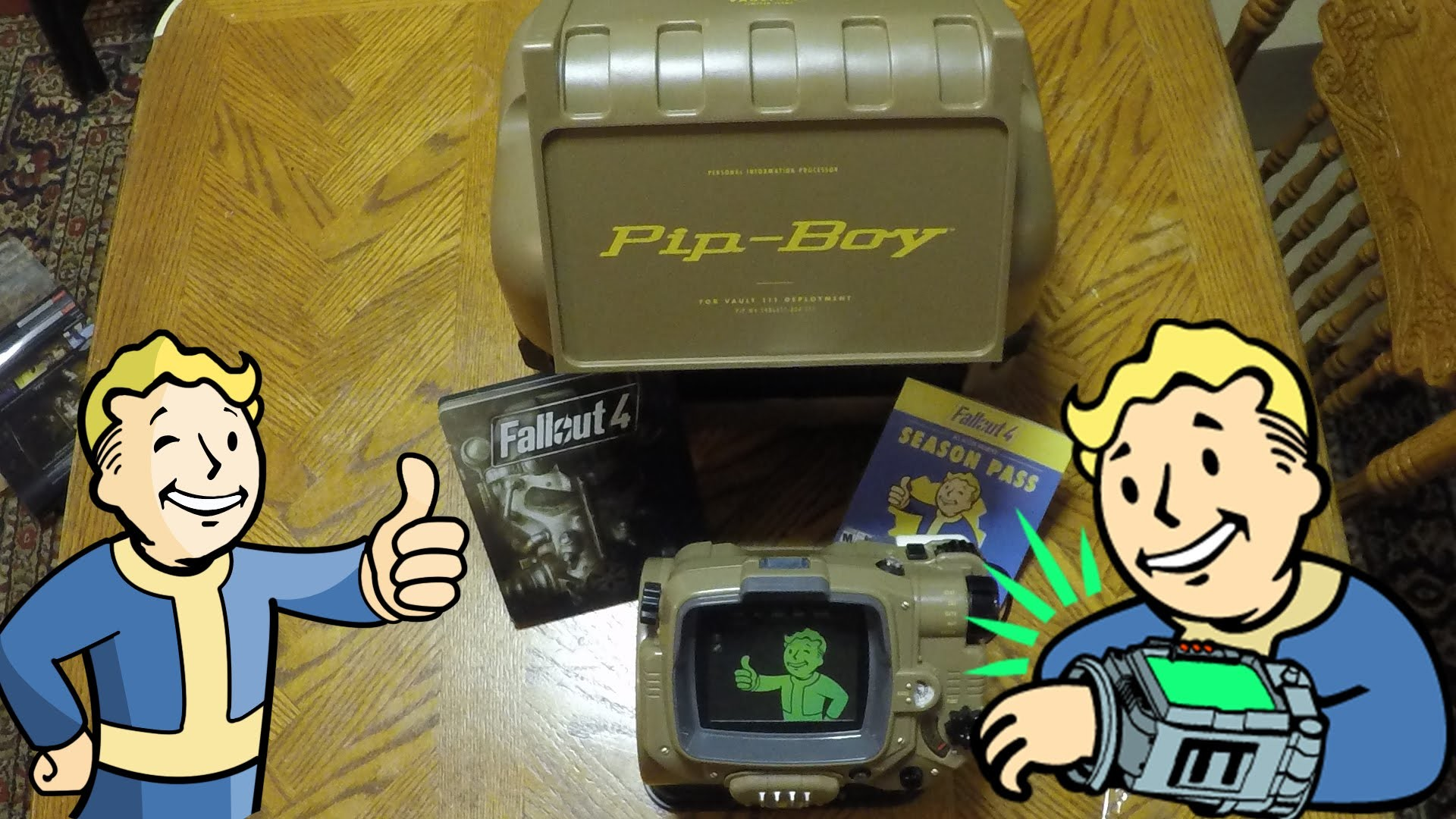 Fallout 4 Pip Boy Edition Unboxing Pocket Guide, Vault Tec Perk Poster –  Biki Unboxing – YouTube