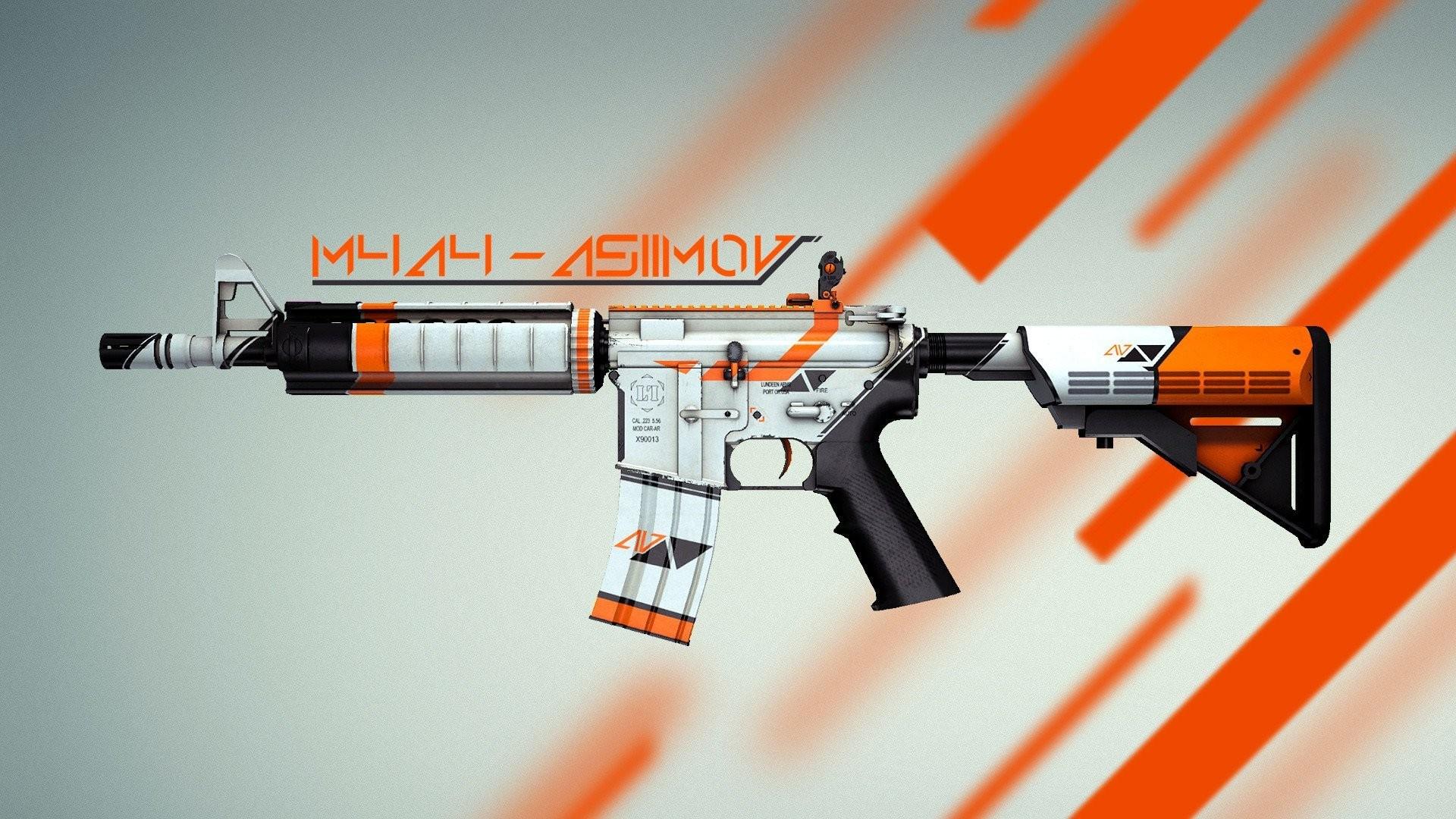 … m4a4 asiimov cs go counter strike global offensive skin hd wallpaper …