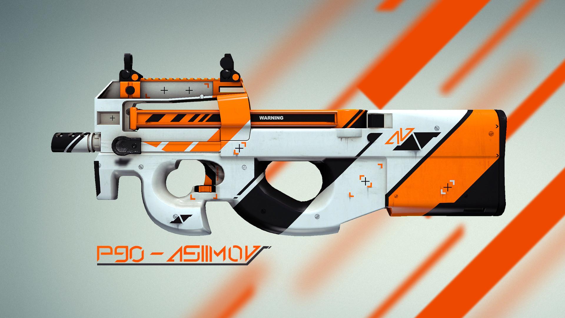 P90, asiimov, cs:go, counter strike, global offensive, skin wallpapers
