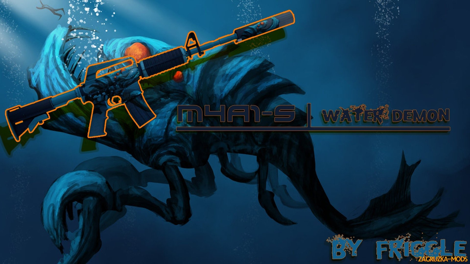 M4A1-S Water Demon Skin for CS:GO