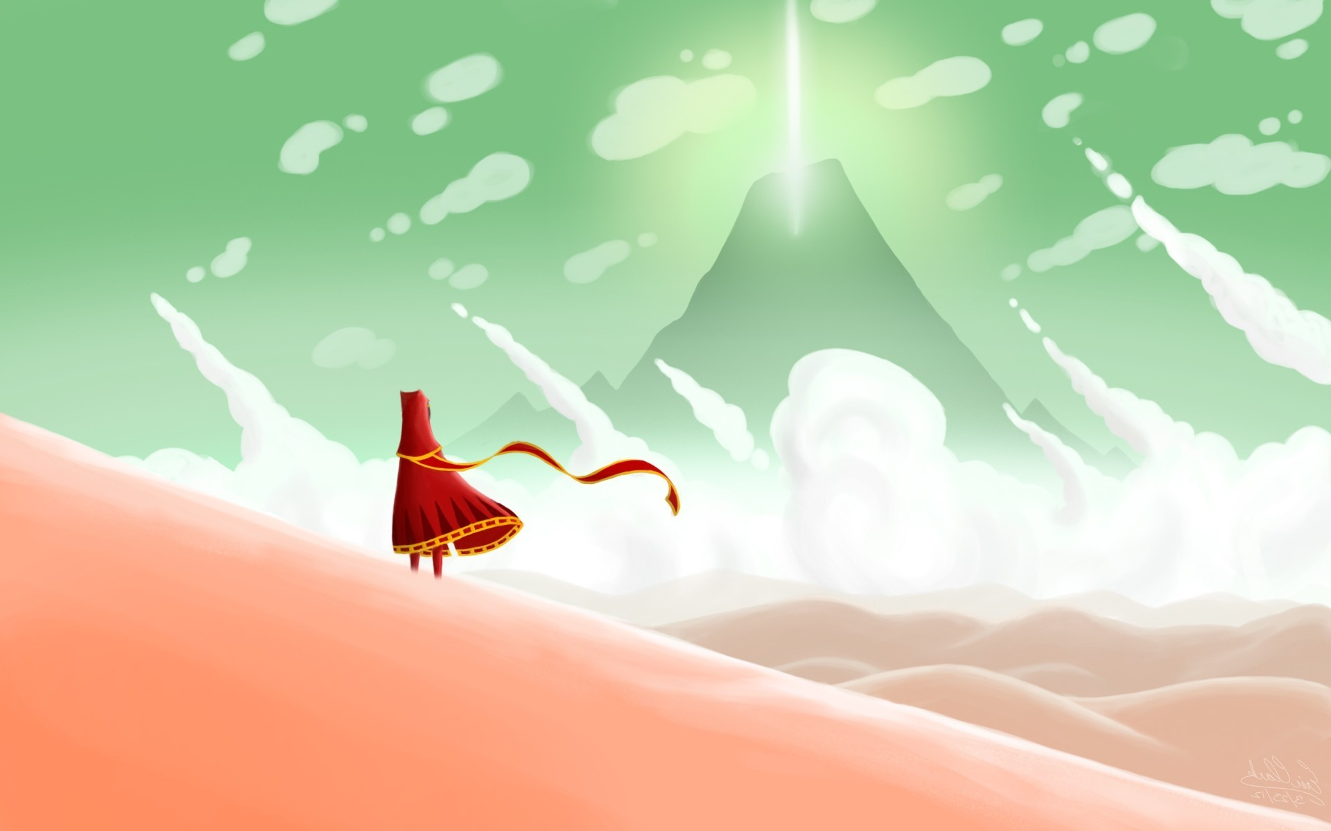 fantasy Art, Red Dress, Video Games, Journey (game) Wallpapers HD / Desktop  and Mobile Backgrounds