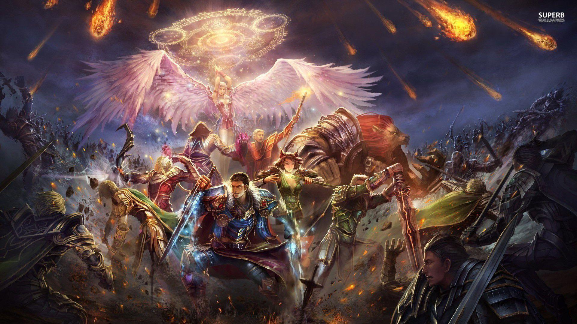 Epic battle wallpaper – Fantasy wallpapers – #