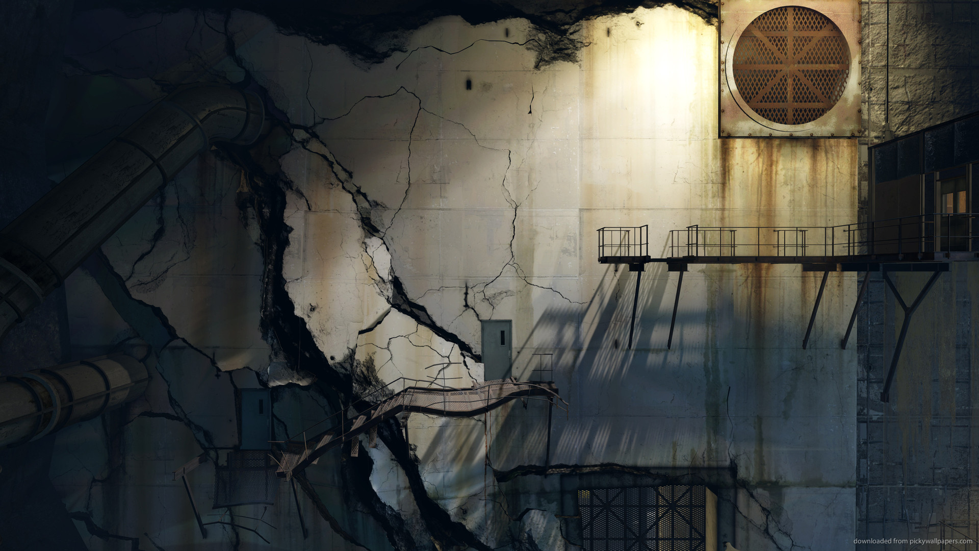 Portal 2 Cracked Wall for 1920×1080