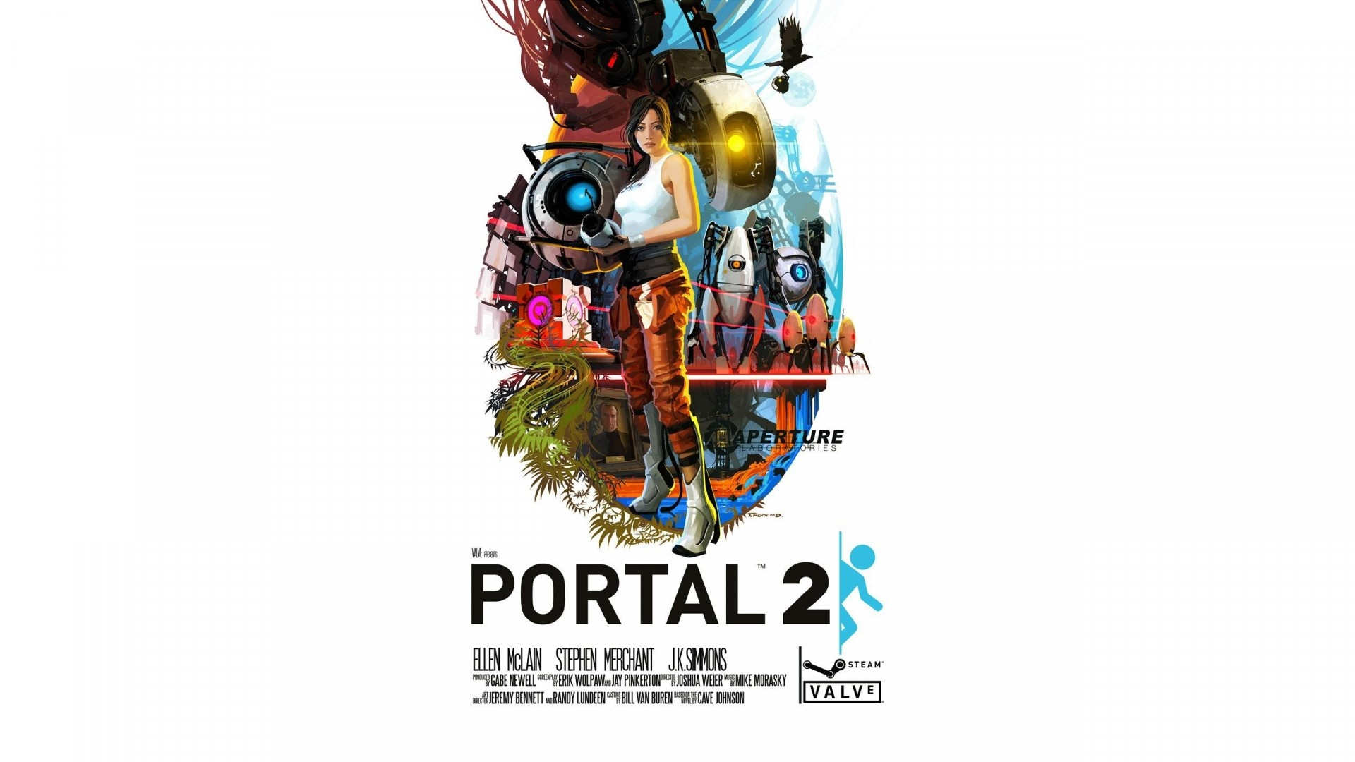 Wallpaper portal, portal 2, game, art