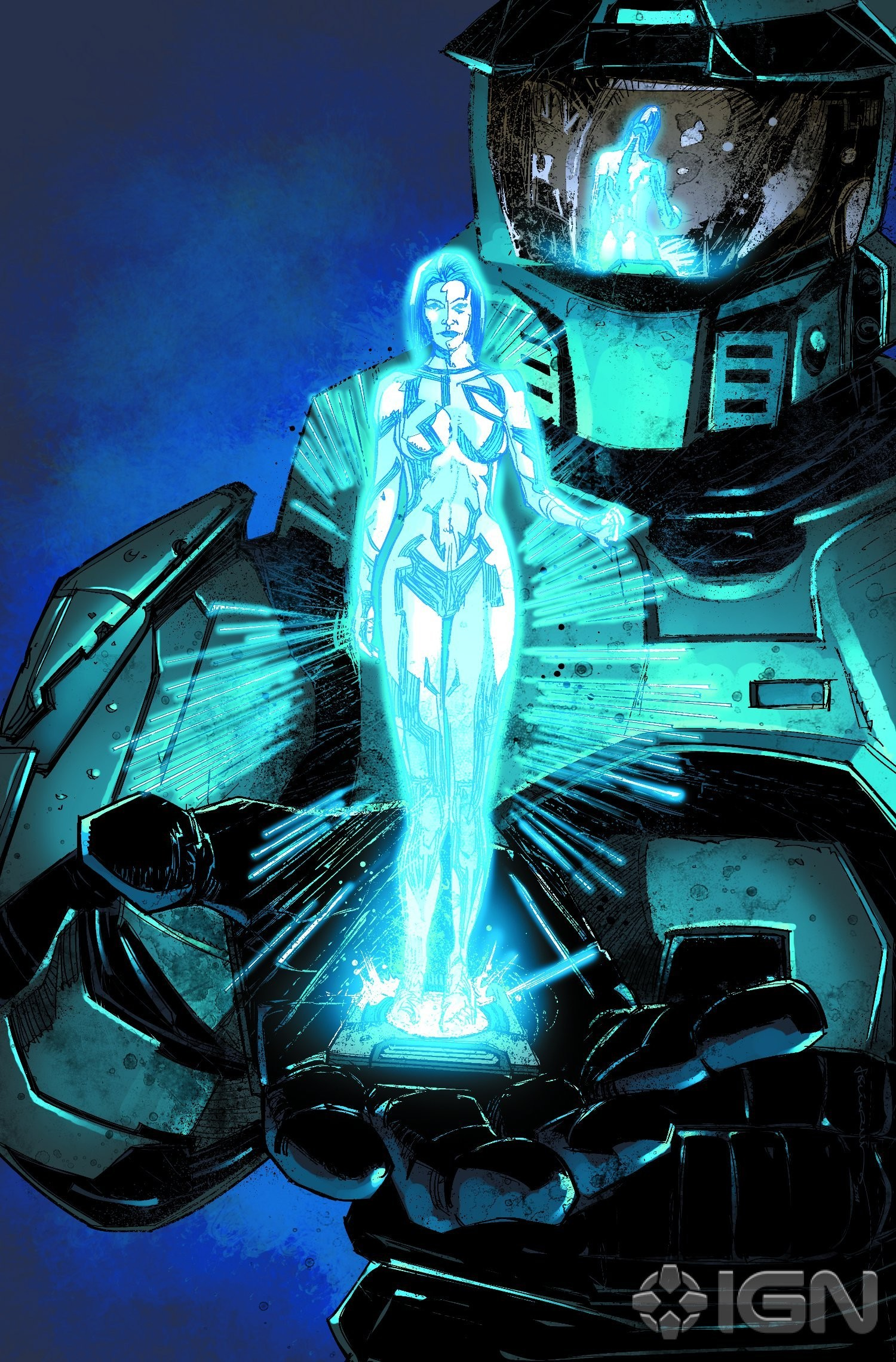 I also have the cover of the Invasion comic as my lockscreen. It's so  fudging cool when my phone does that light glimmer which makes it look like  Cortana is …