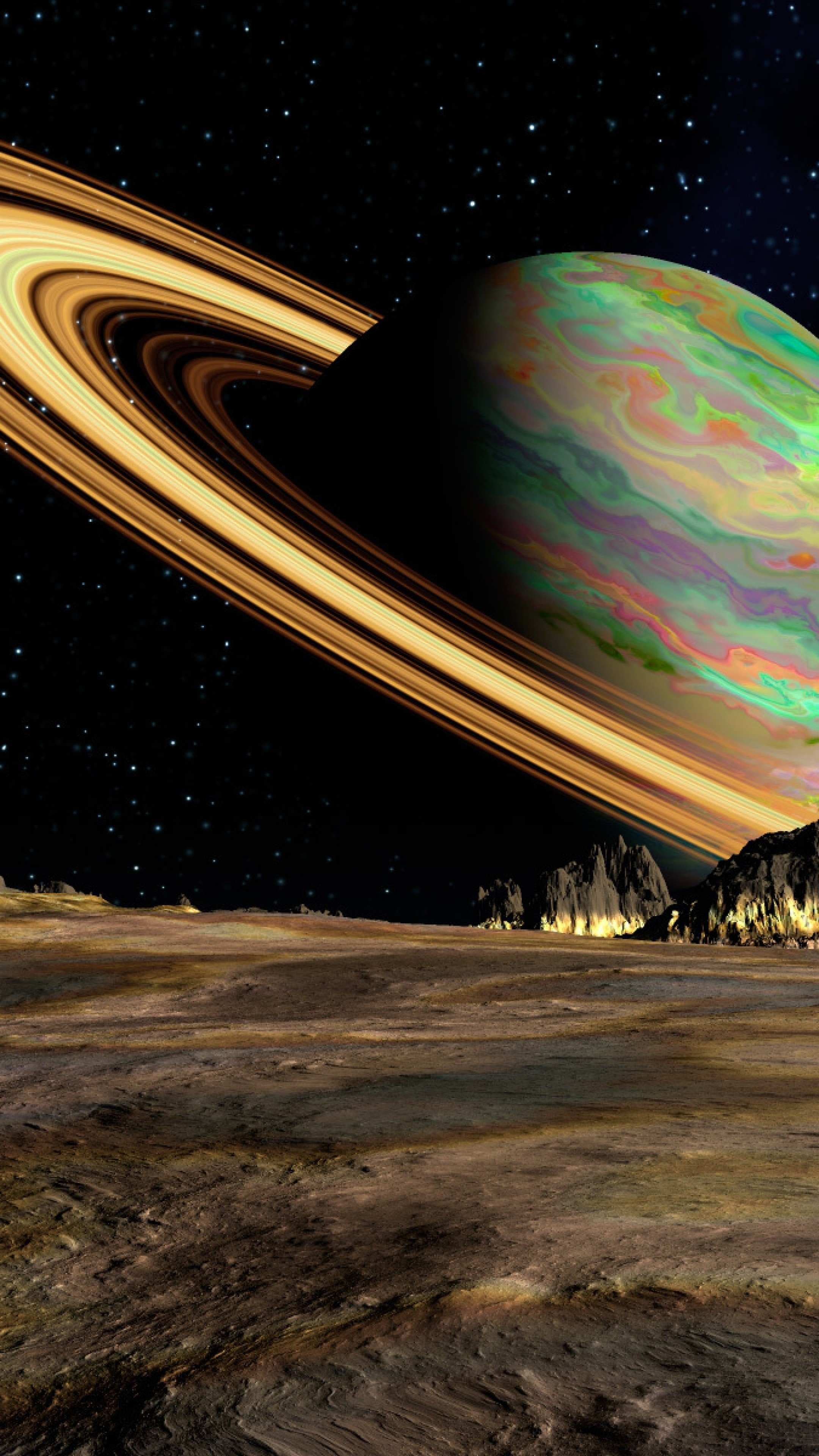 Wallpaper planet, saturn, space, ring