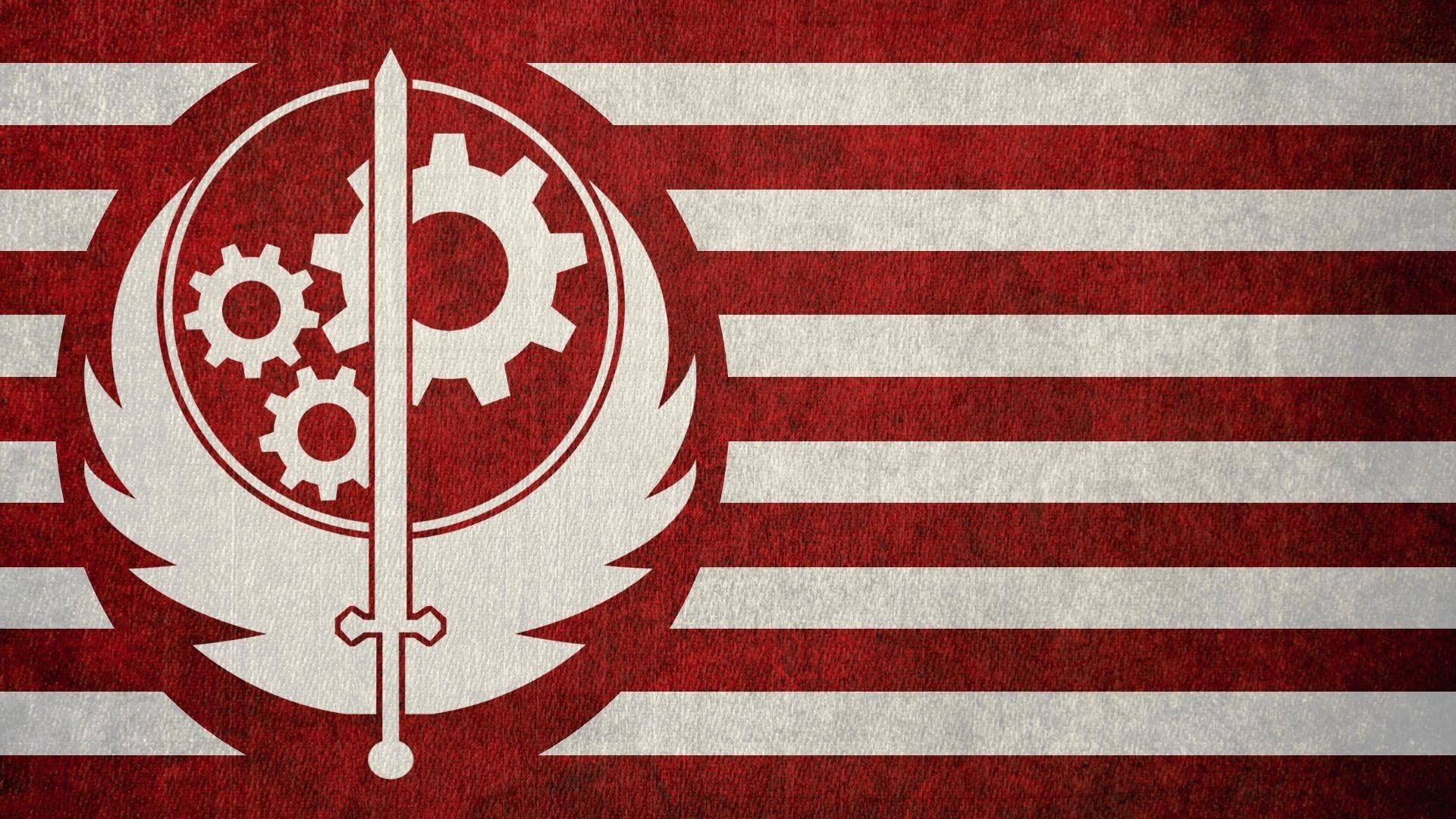 Fallout Game, Flag, Brotherhood of Steel, Sword, Symbol.