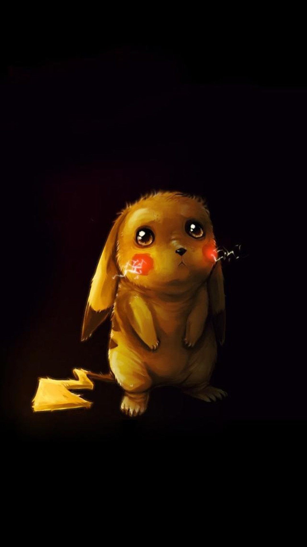 Cute Poor Pikachu #iPhone #6 #plus #wallpaper