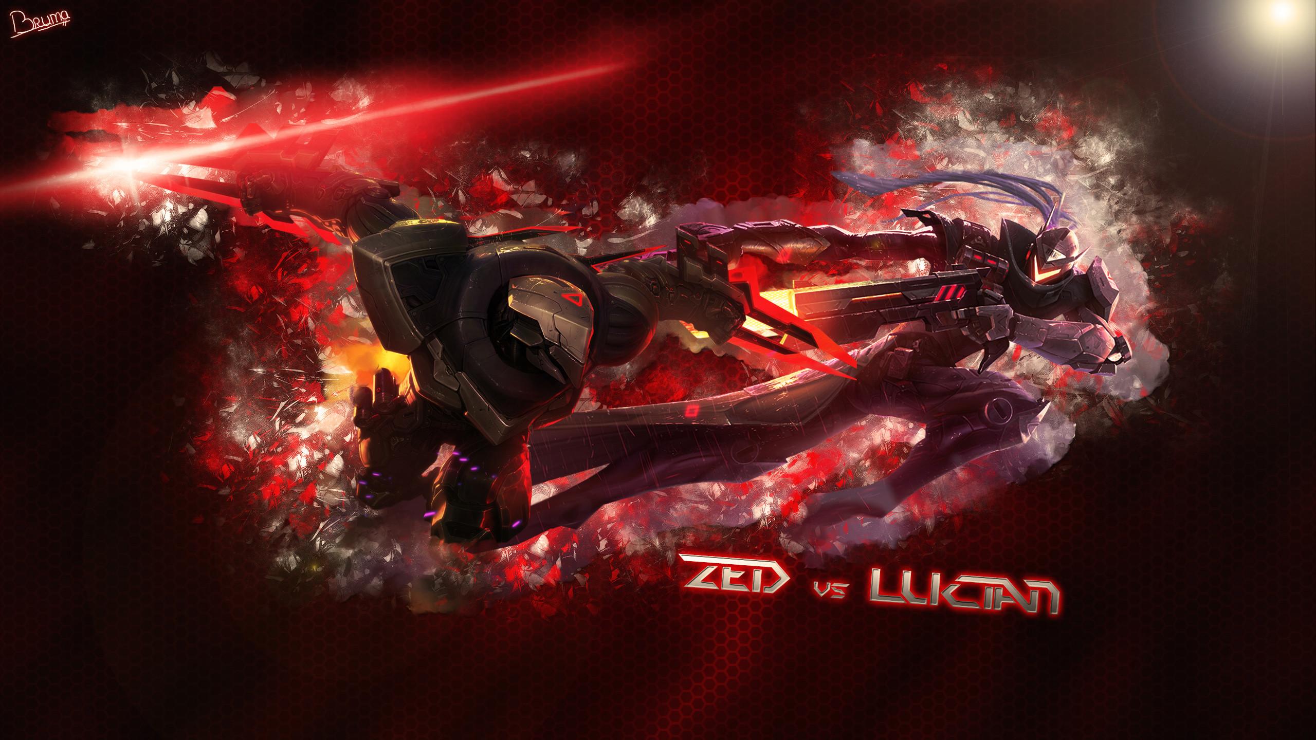 PROJECT Zed Vs Lucian by Brumskyy HD Wallpaper Fan Art Artwork League of  Legends lol