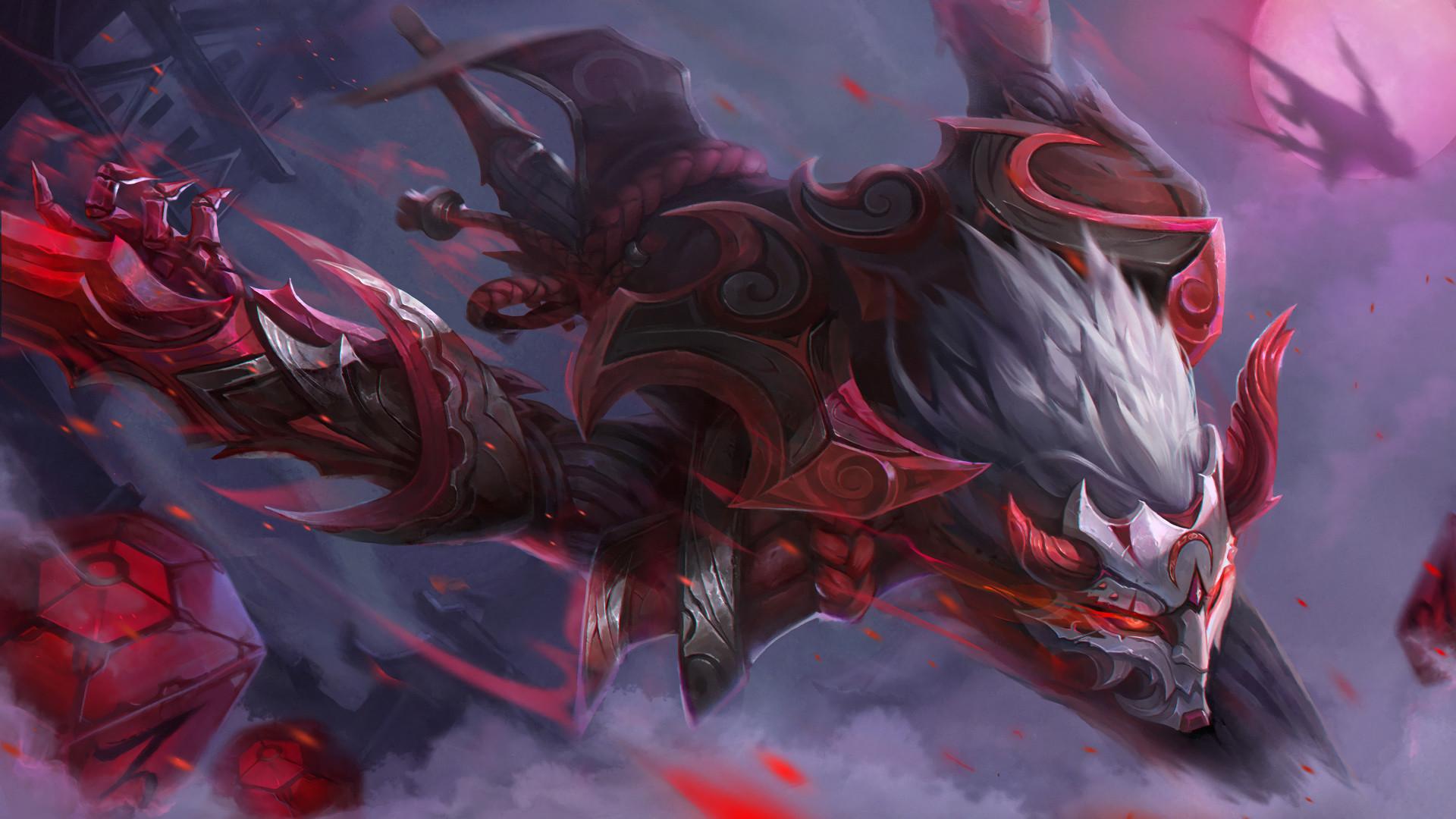 Blood Moon Zed by kusanagi lin HD Wallpaper Fan Art Artwork League of  Legends lol (