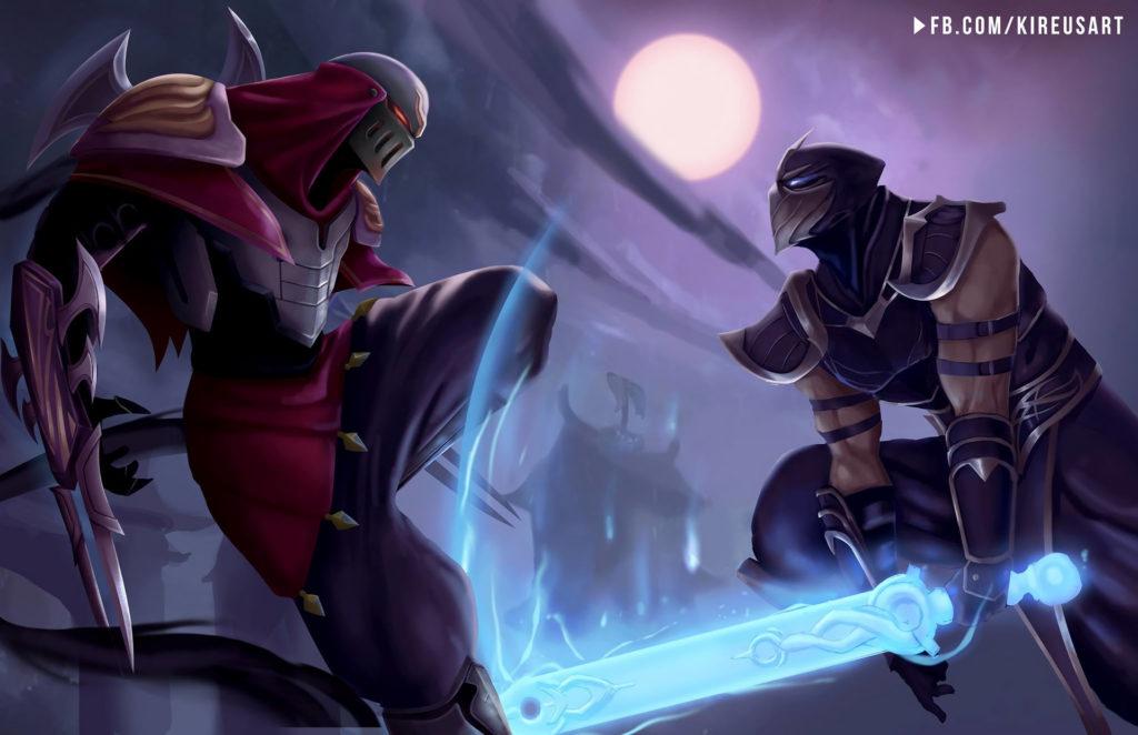 Shen Vs Zed by Kireusart HD Wallpaper Fan Art Artwork League of Legends lol