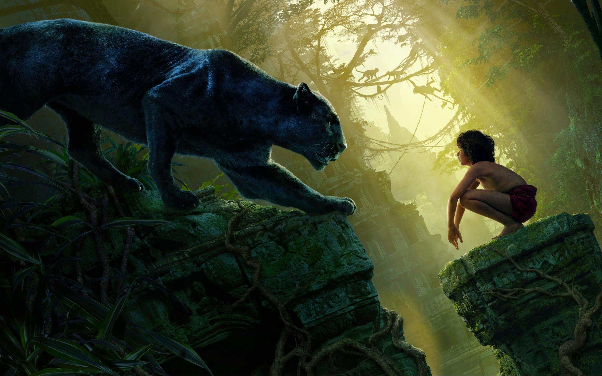 Mowgli Bagheera Black Panther The Jungle Book