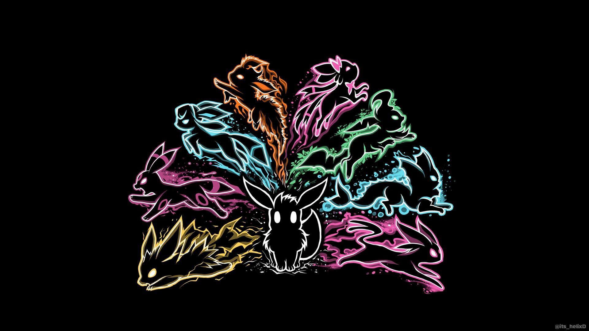 Neon-Eevee-wallpaper-wp40010043