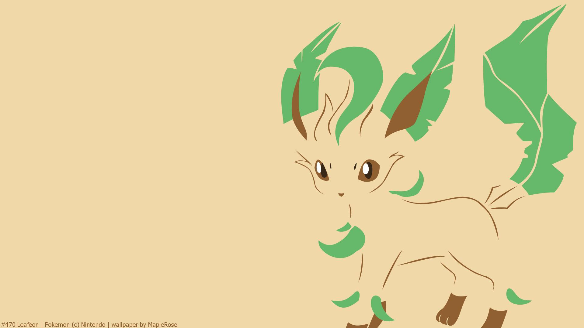 Anime РPok̩mon Leafeon (Pok̩mon) Eeveelutions Wallpaper