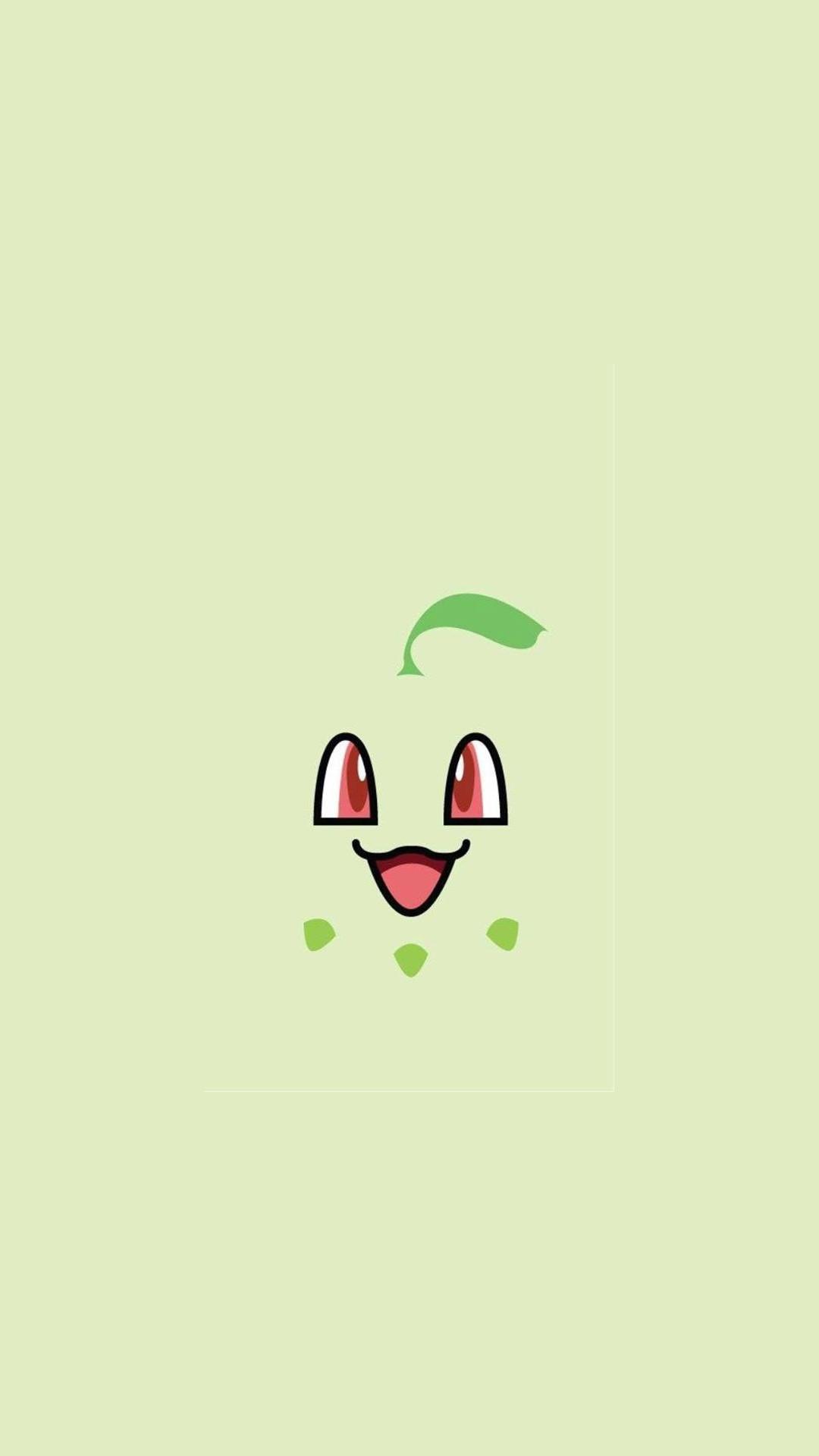 Chikorita Pokemon iPhone 6+ HD Wallpaper – https://freebestpicture.com/