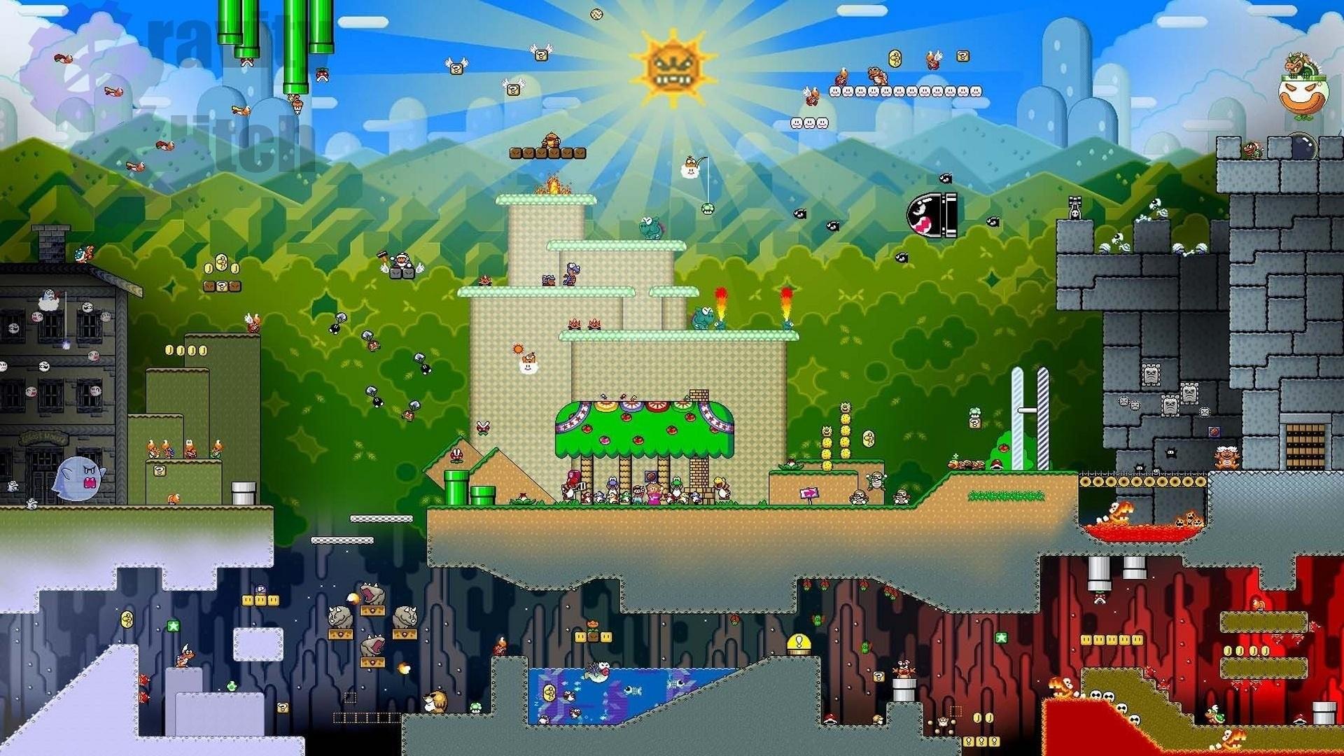 Video Game – Mario Nintendo Collage Super Mario World Super Nintendo Snes  Wallpaper