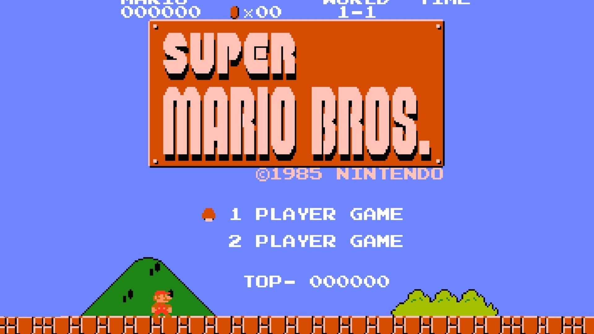 Description: Download Nintendo video games super mario bros retro games  wallpaper/desktop background in HD & Widescreen resolution.