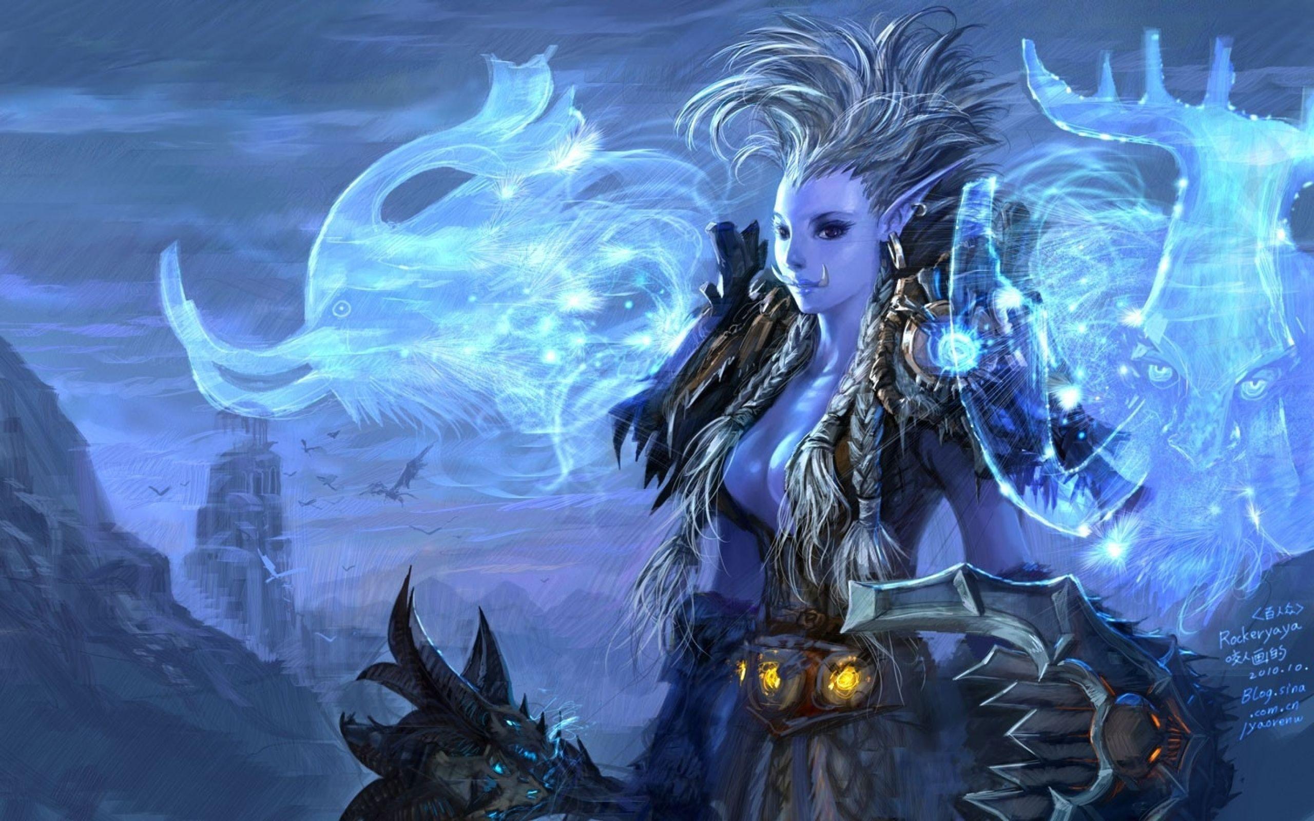 video games World of Warcraft fantasy art armor magic artwork trolls  Yaorenwo wallpaper background