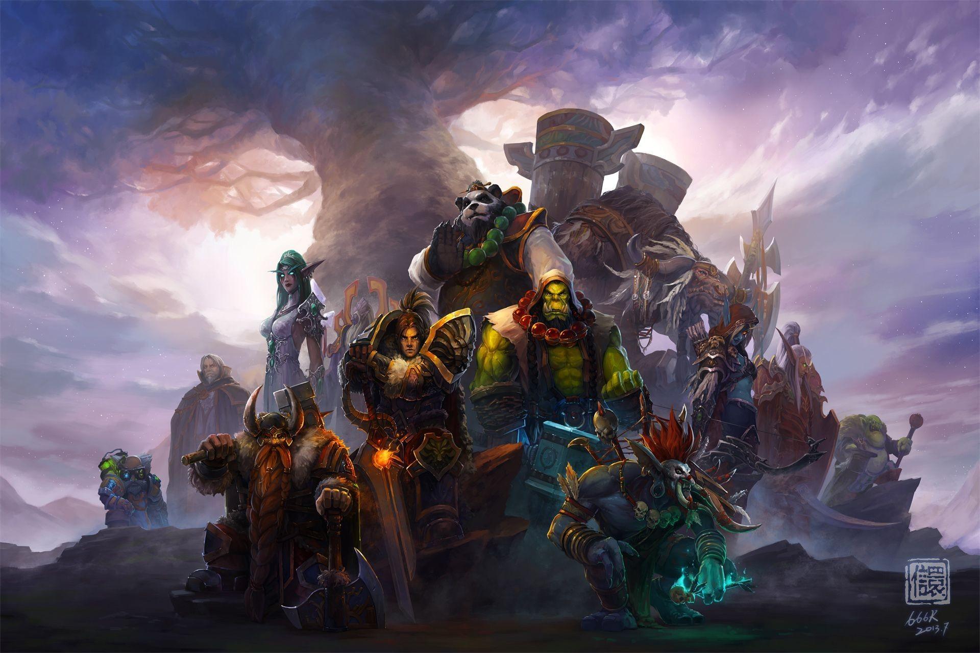 World of WarCraft WoW Orc Warrior Gnome Men Panda Armor Games .
