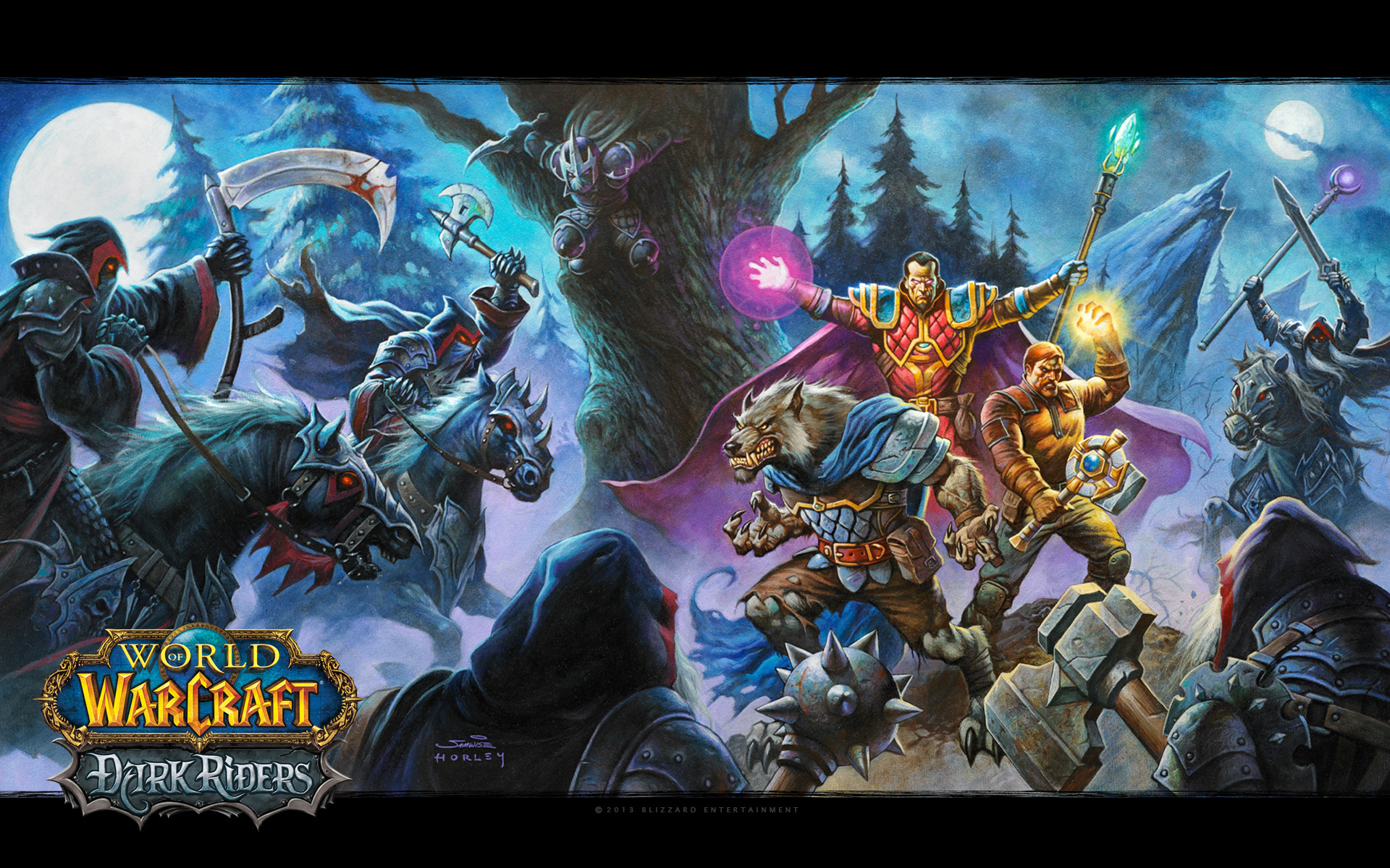 Blizzplanet The Official World of Warcraft: Dark Riders Wallpaper Available  | Blizzplanet