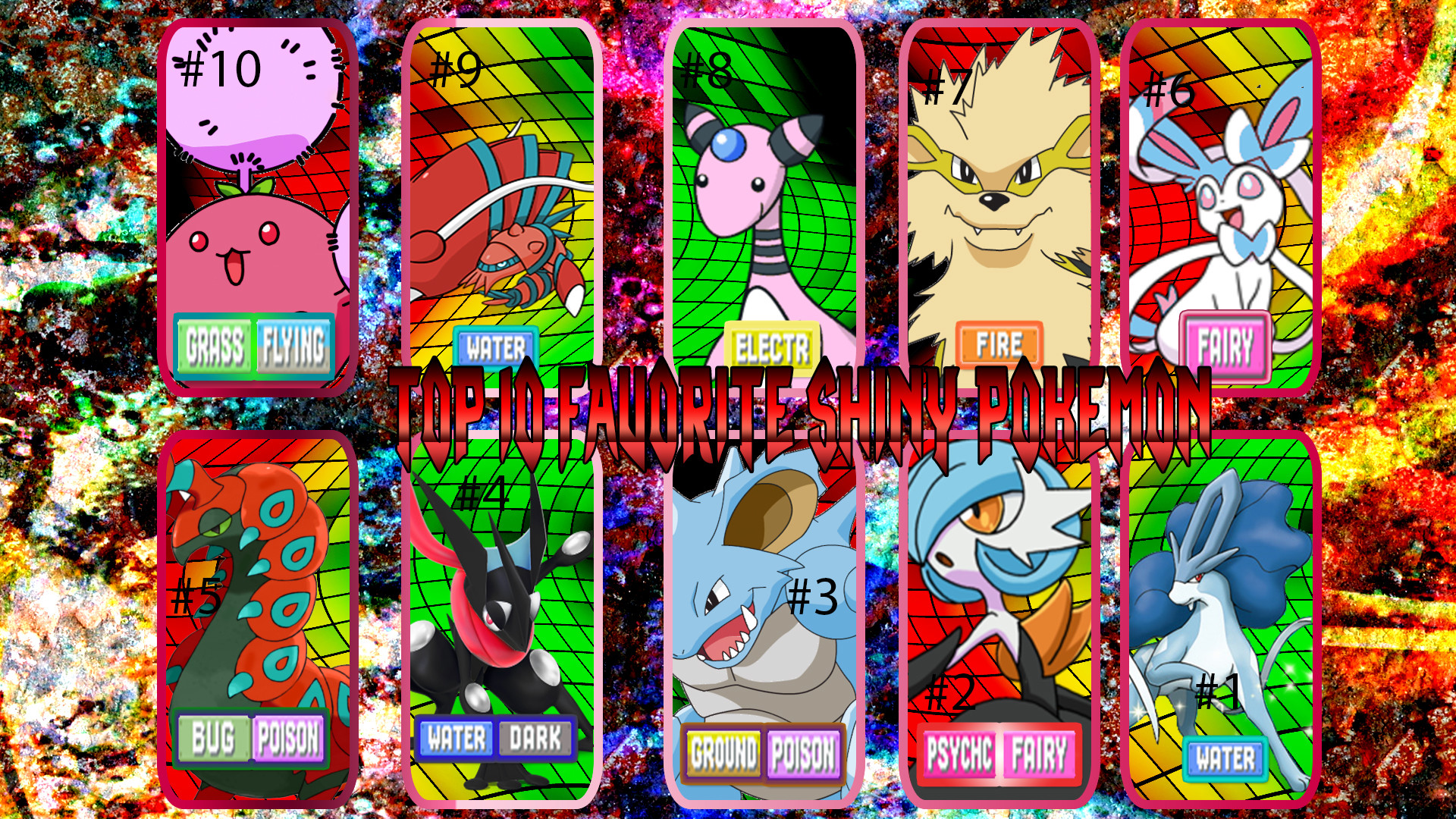 … Top 10 Favorite Shiny Pokemon (Remade) by Randompeak