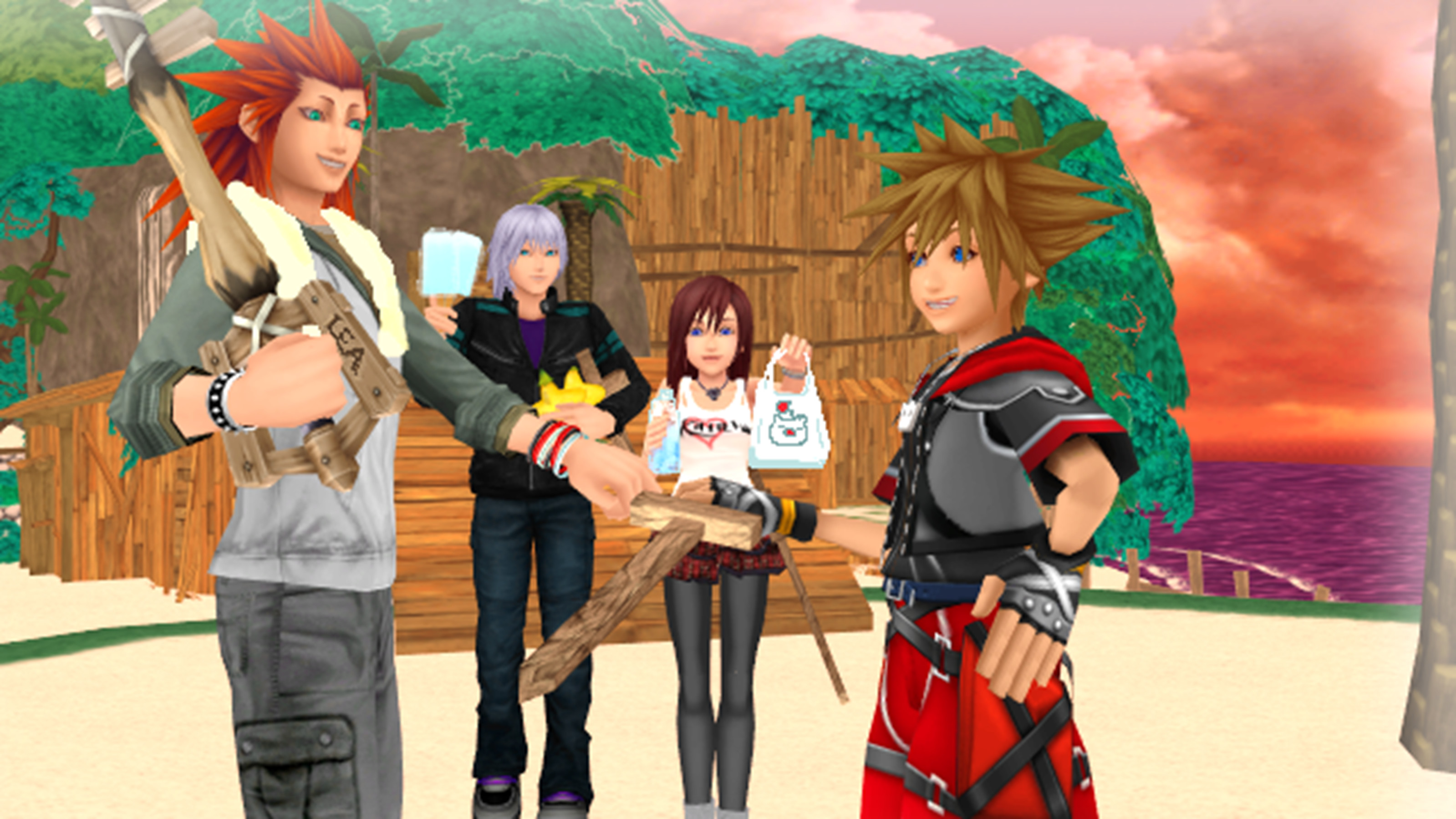 Kingdom Hearts trios images Sora and Lea Practing Keyblade Training with  Riku and Kairi. HD wallpaper and background photos