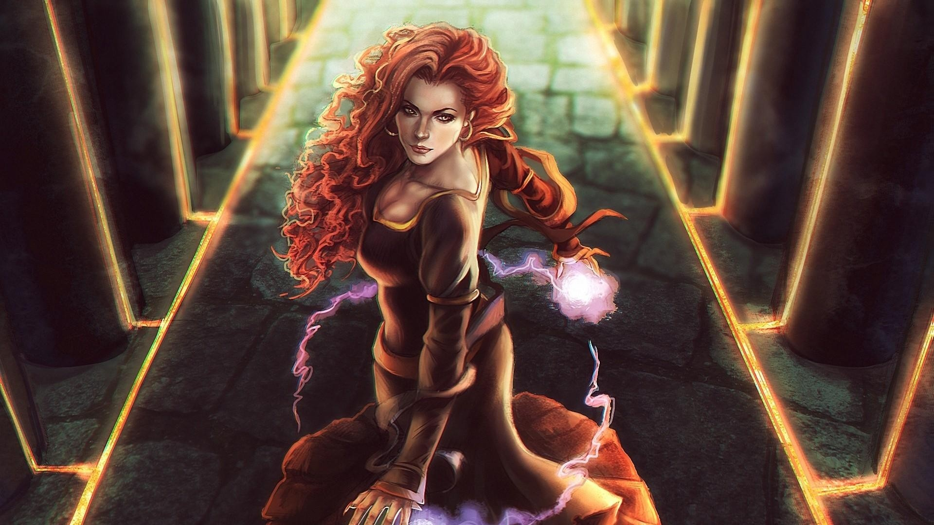 Download now full hd wallpaper triss merigold red head luxury spell .