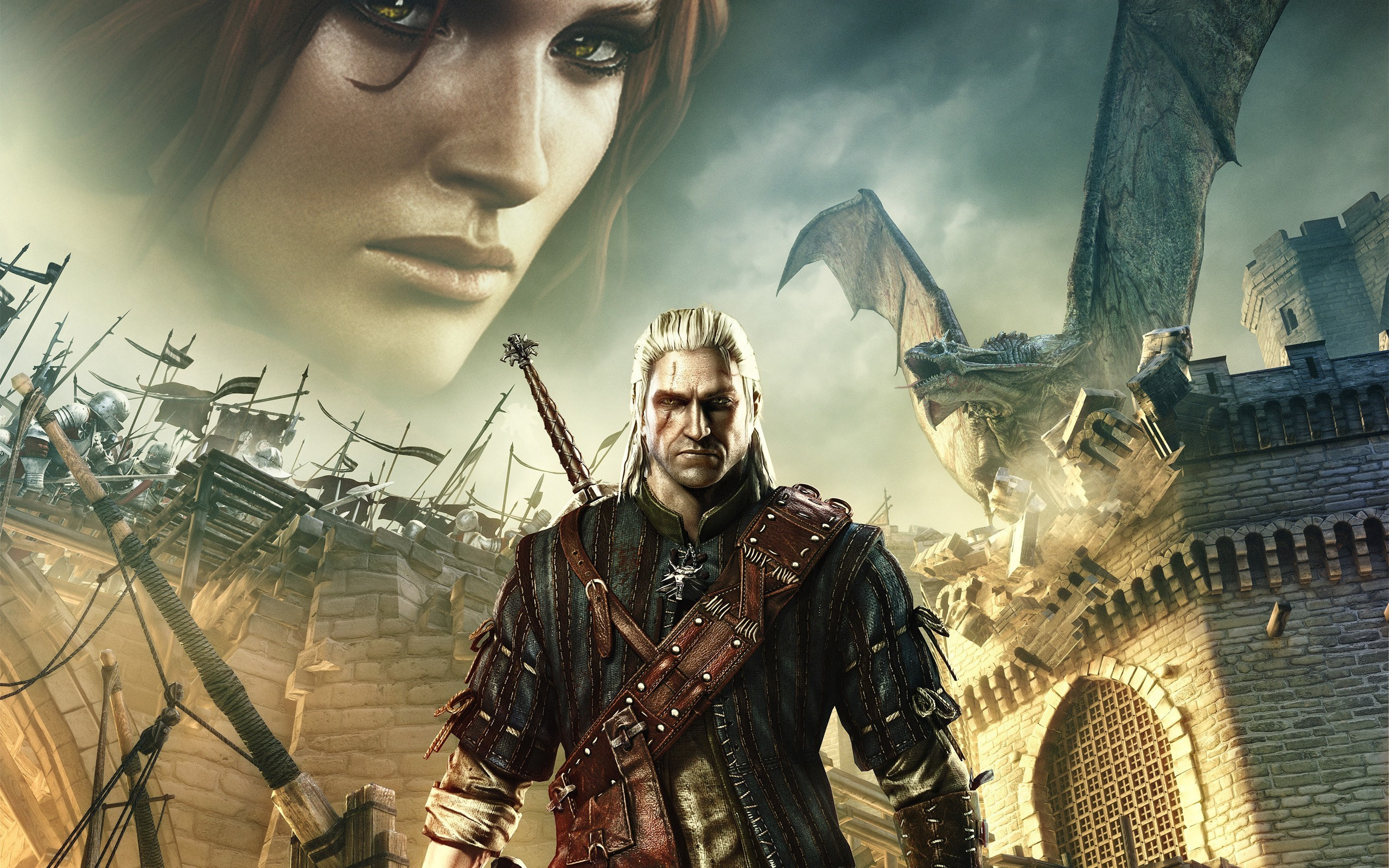 The Witcher 2 Assassins Of Kings, The Witcher, Triss Merigold, Geralt Of  Rivia Wallpaper HD