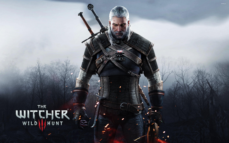 Geralt holding a crossbow – The Witcher 3: Wild Hunt wallpaper jpg