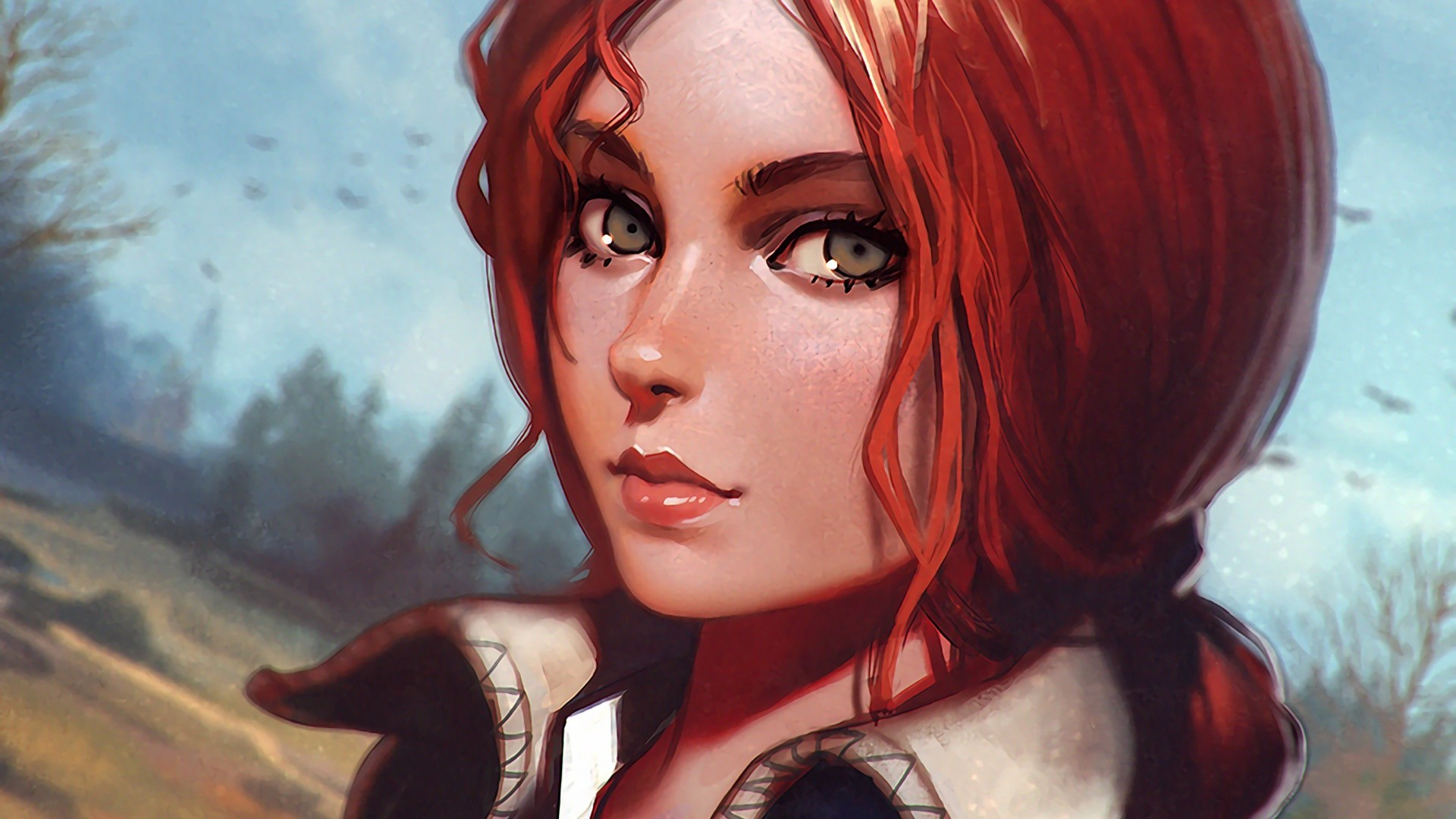Video Game – The Witcher 3: Wild Hunt Face Triss Merigold Red Hair Wallpaper
