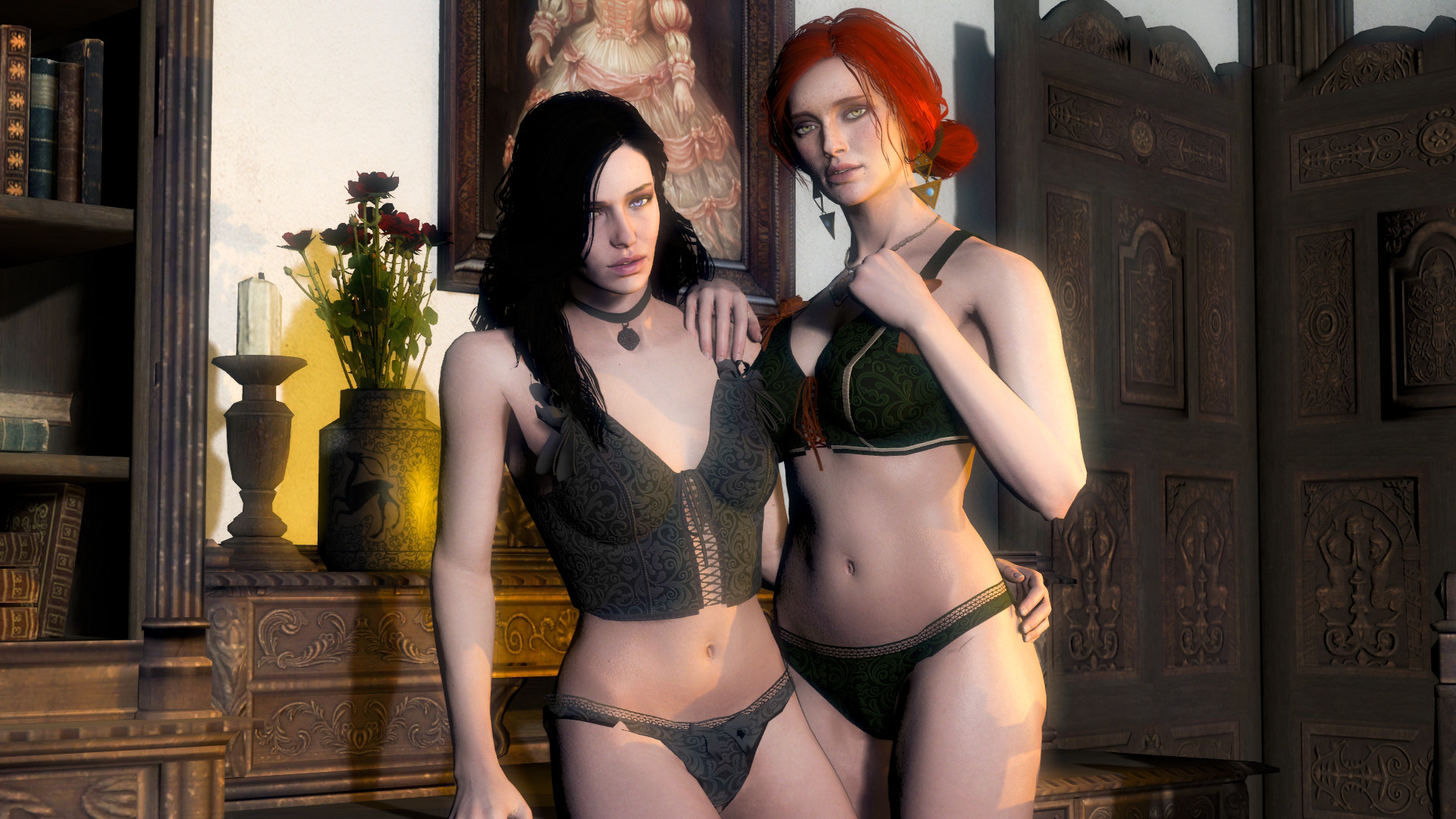 Yennefer and triss by Santiago5300 Yennefer and triss by Santiago5300
