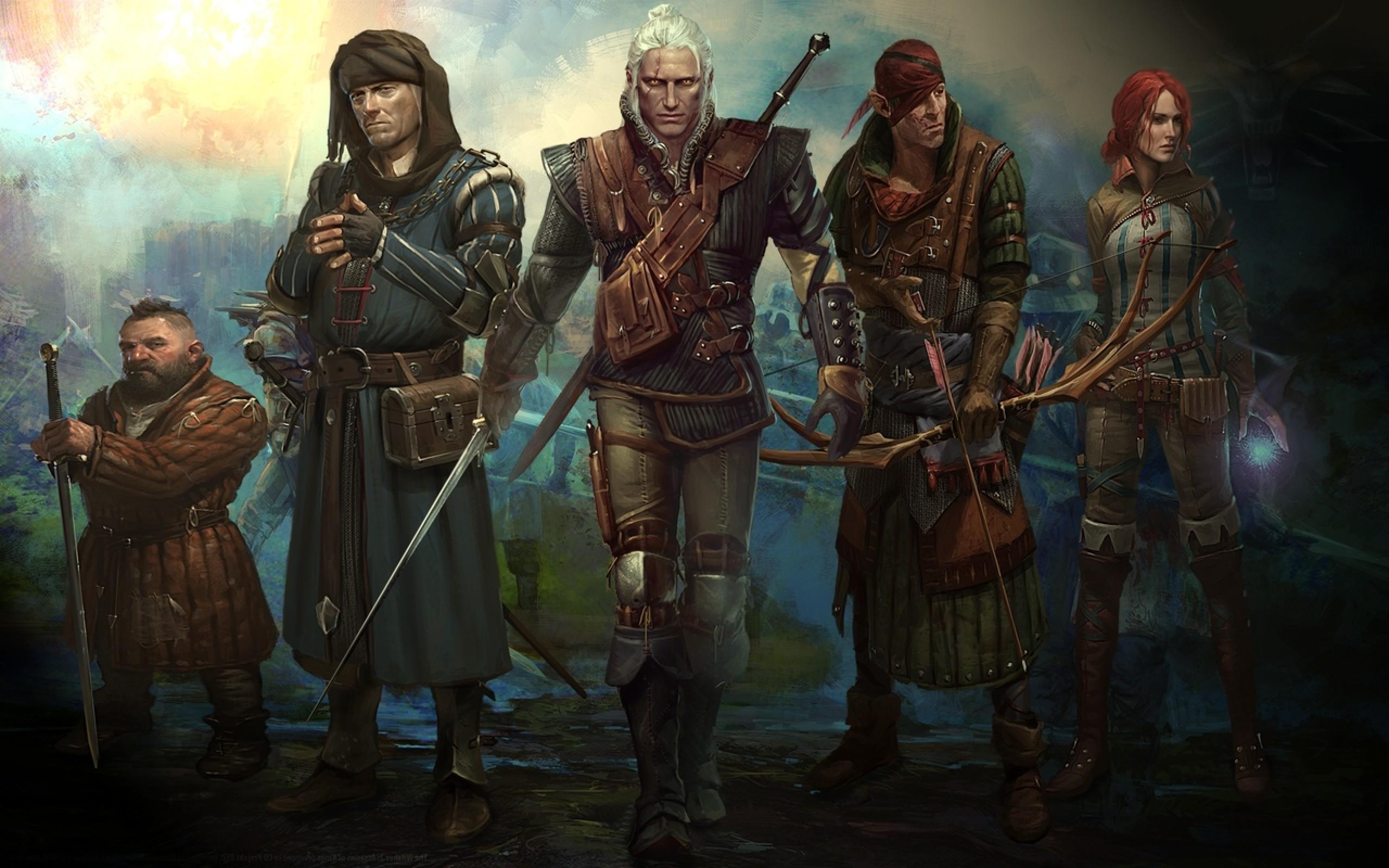 the witcher geralt of rivia the witcher 2 triss merigold geralt assassins  of kings iorveth zoltan