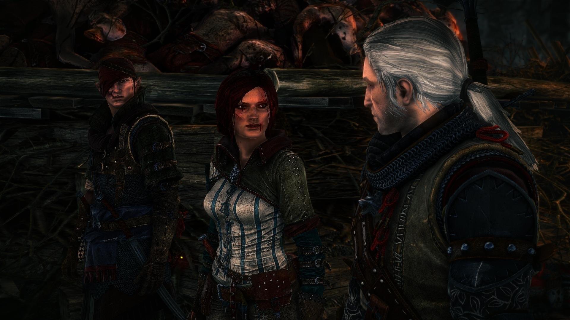 The Witcher 2 Assassins of Kings Geralt Triss Merigold Iorweth wallpaper