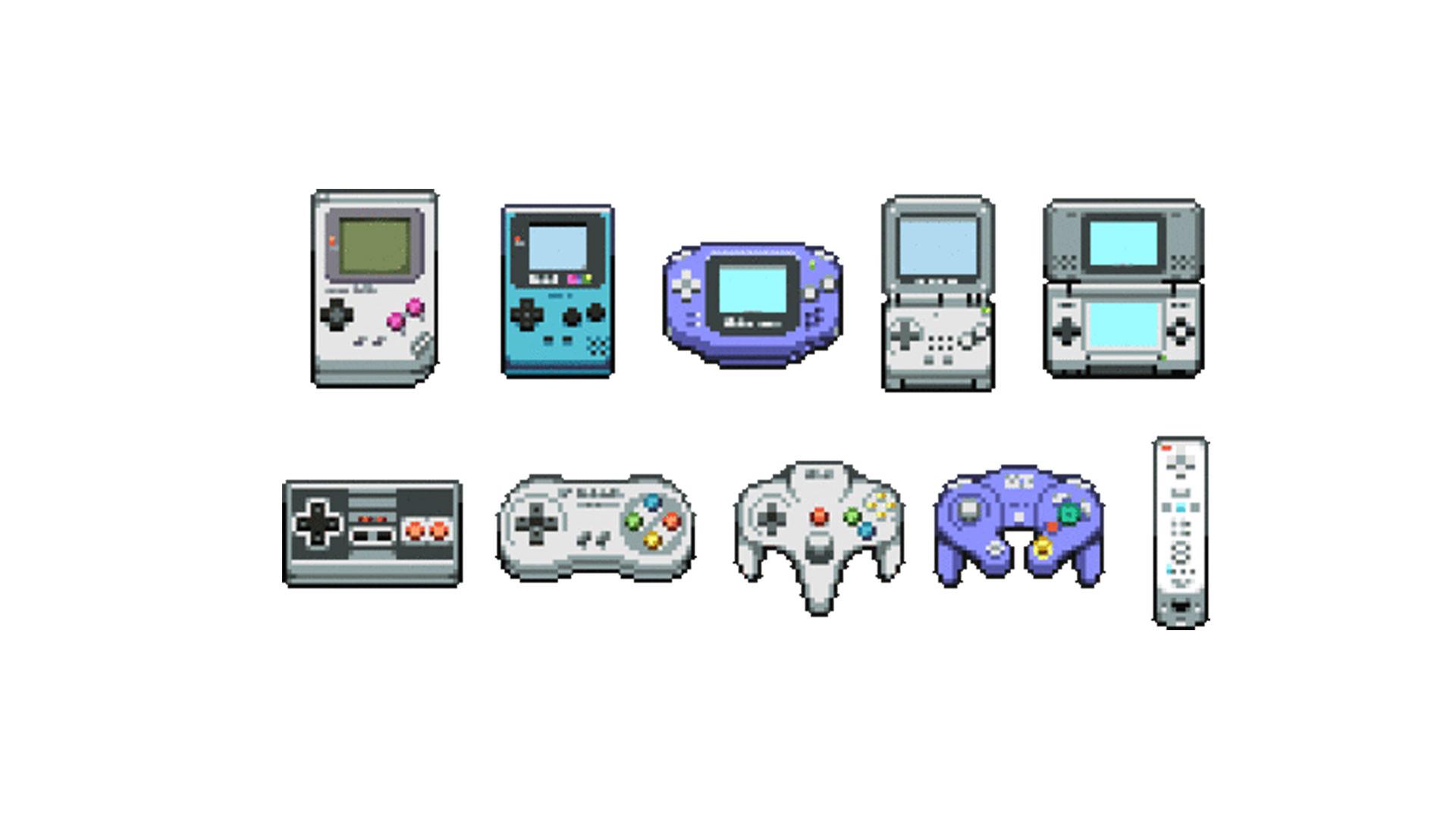 Nintendo 8-bit Controllers Wallpaper