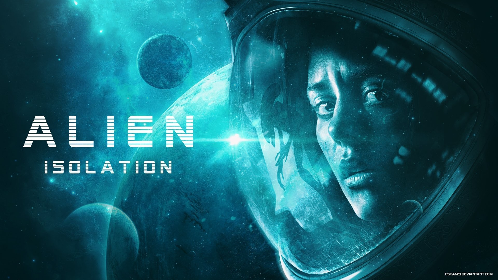 alien isolation game images by hshamsi space suit girl
