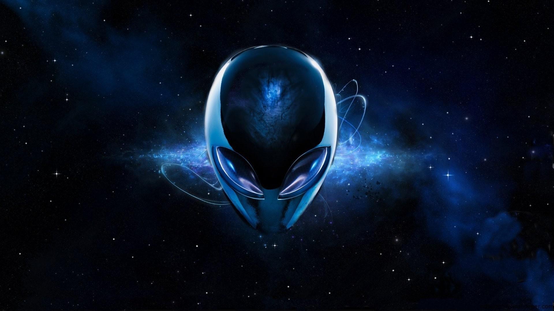 … DeviantArt Blue Alien Wallpaper