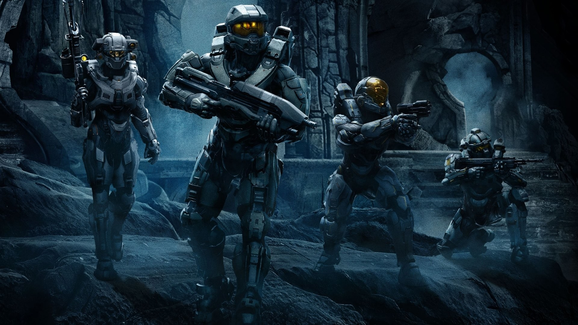 The 3rd wallpaper is with Halo 5 Guardians Team Chief