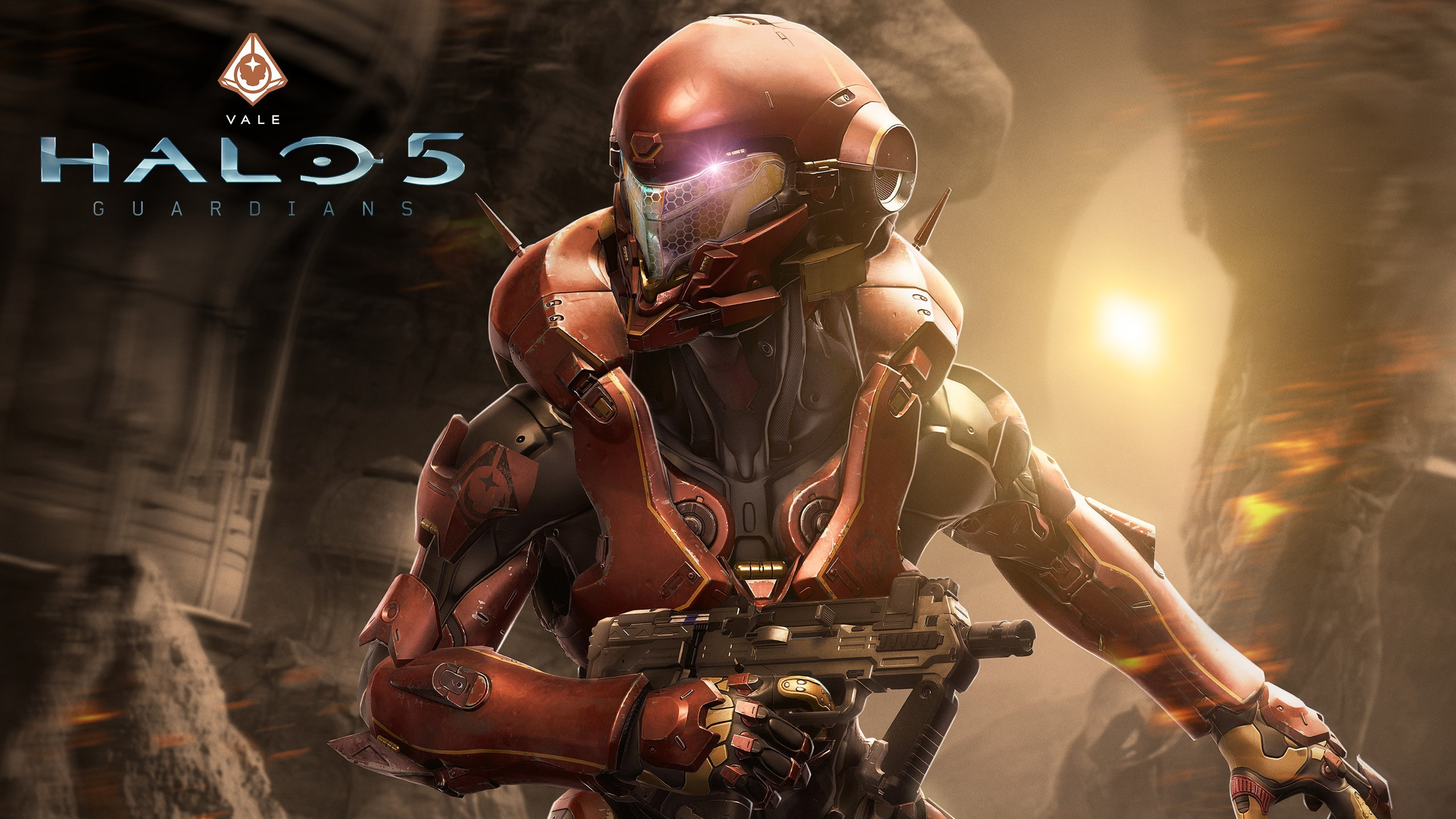Wallpaper Halo 5, Armor, Weapons