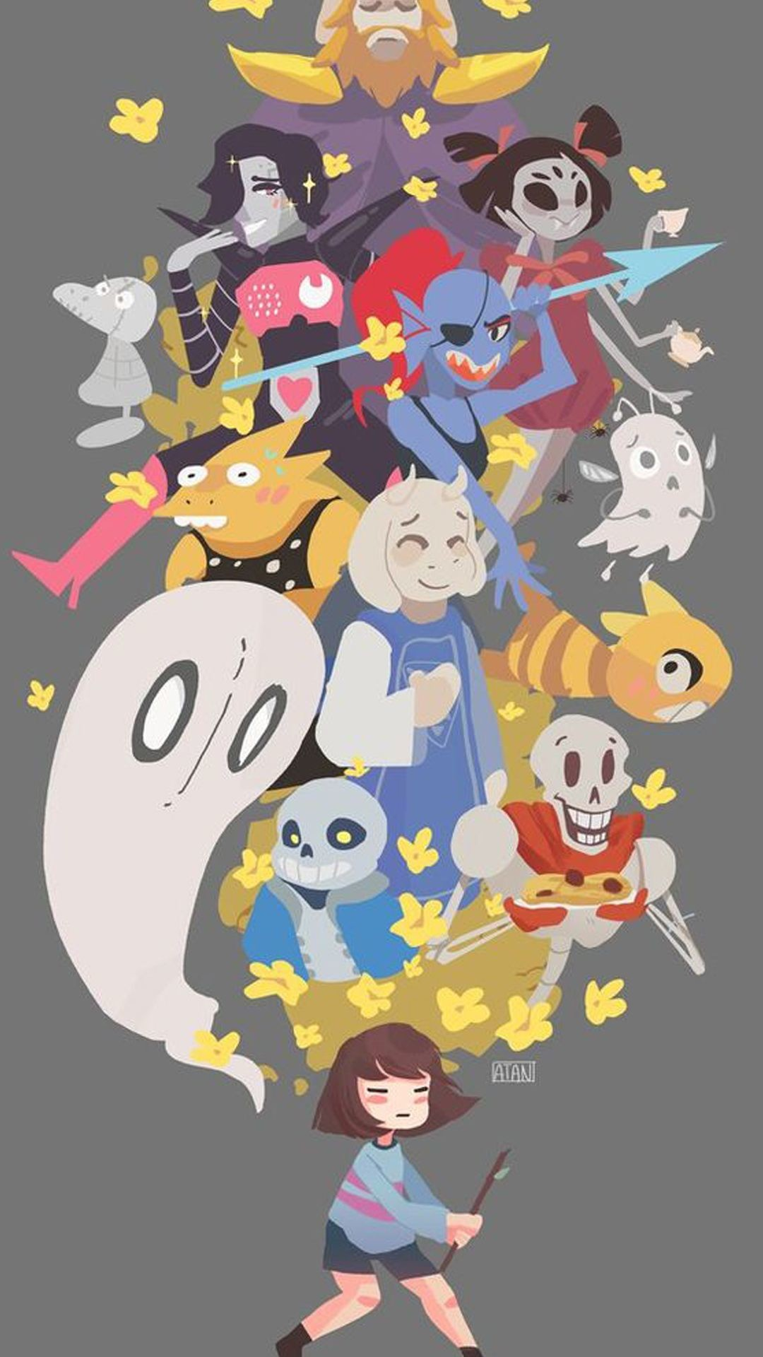 Due to popular demand here are the undertale themed phone backgrounds – Due  To Popular Demand