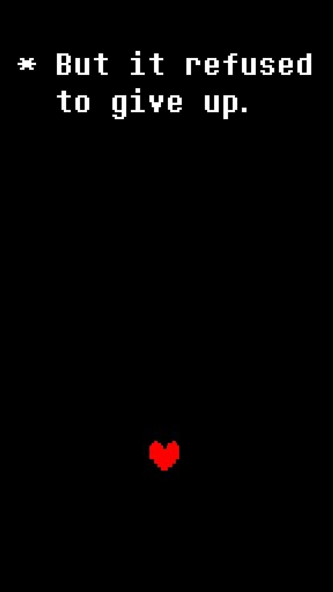 Simple Undertale phone wallpaper