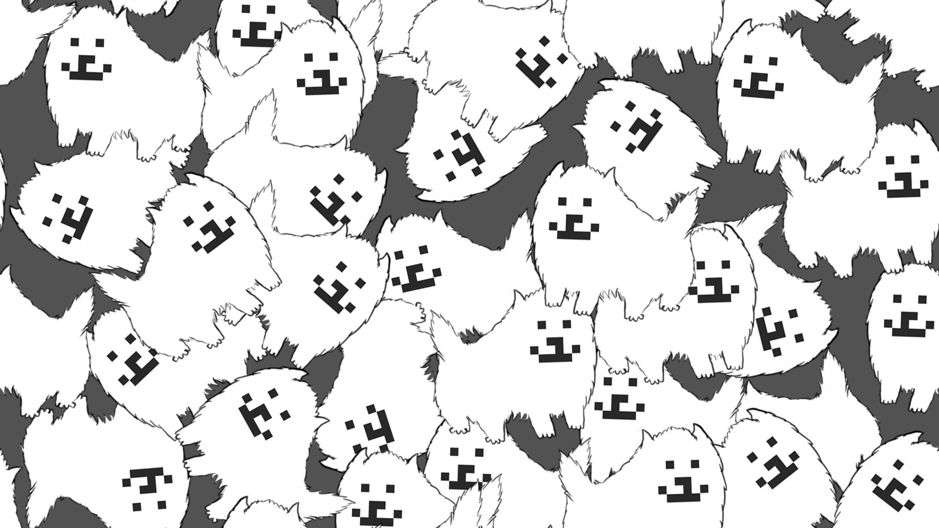 Tile-able dog wallpaper I made …