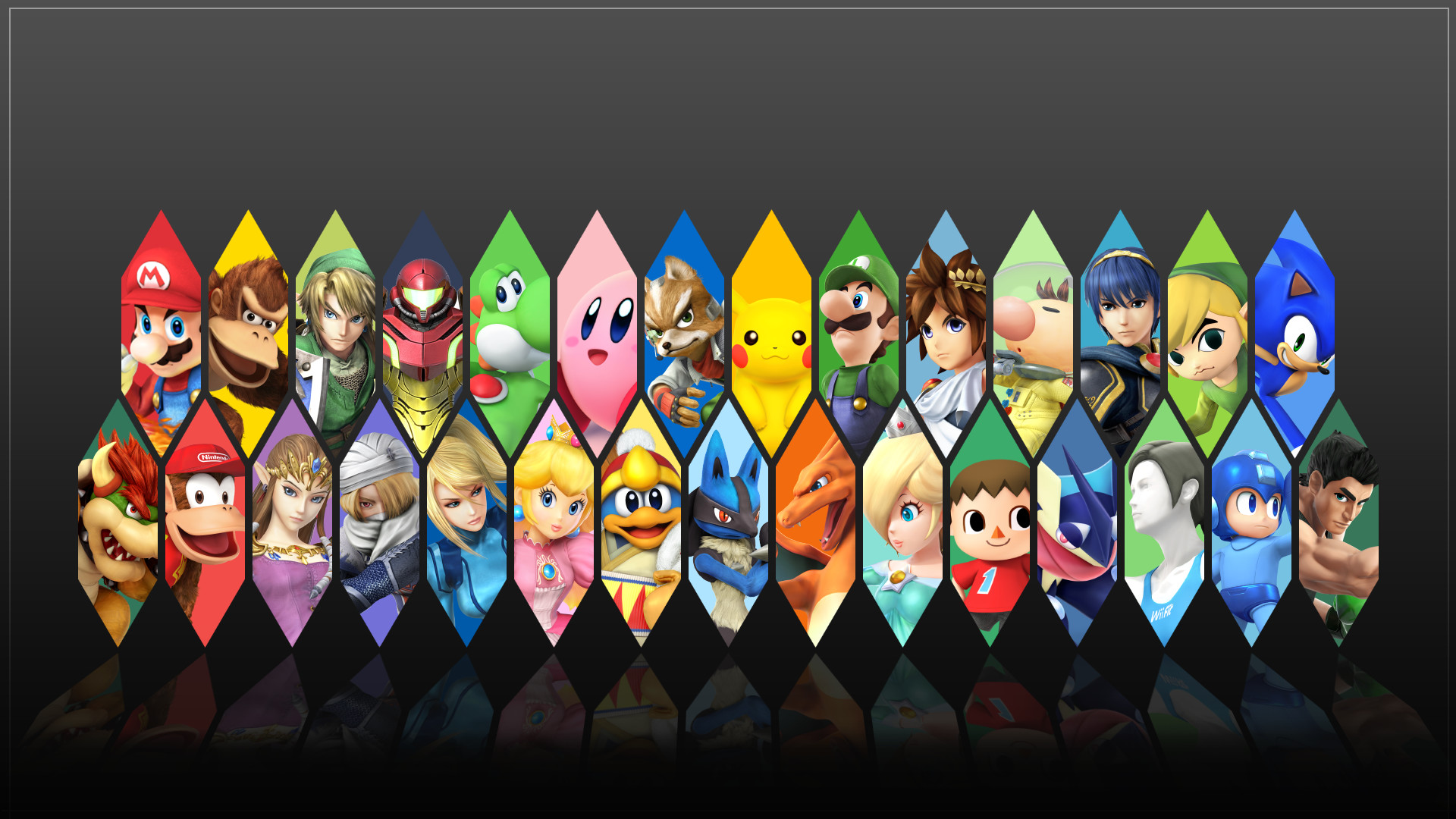 Super smash bros 4 characters